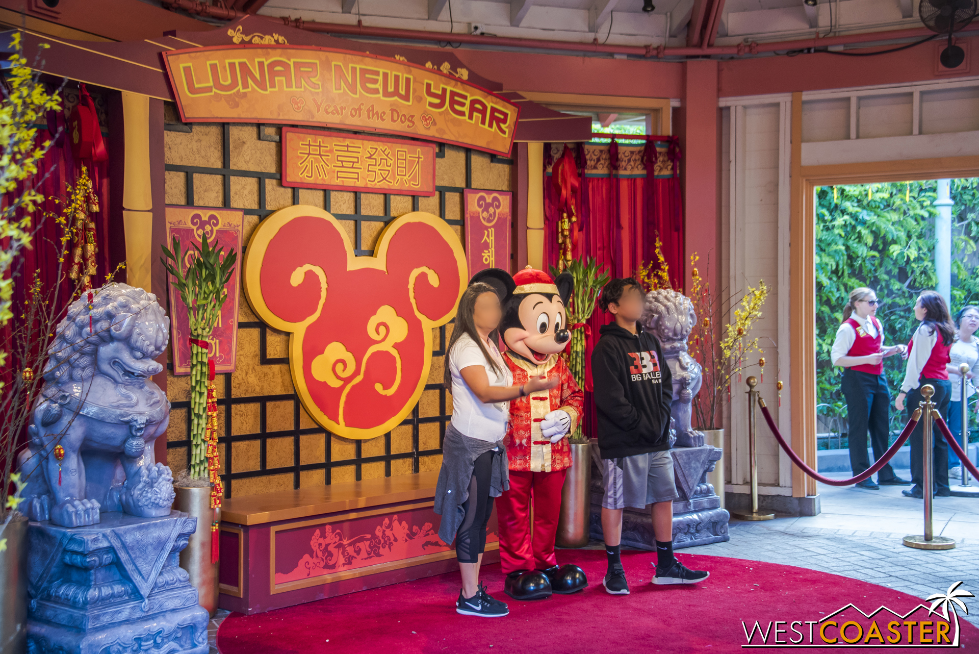 He's one of several characters guests can meet.