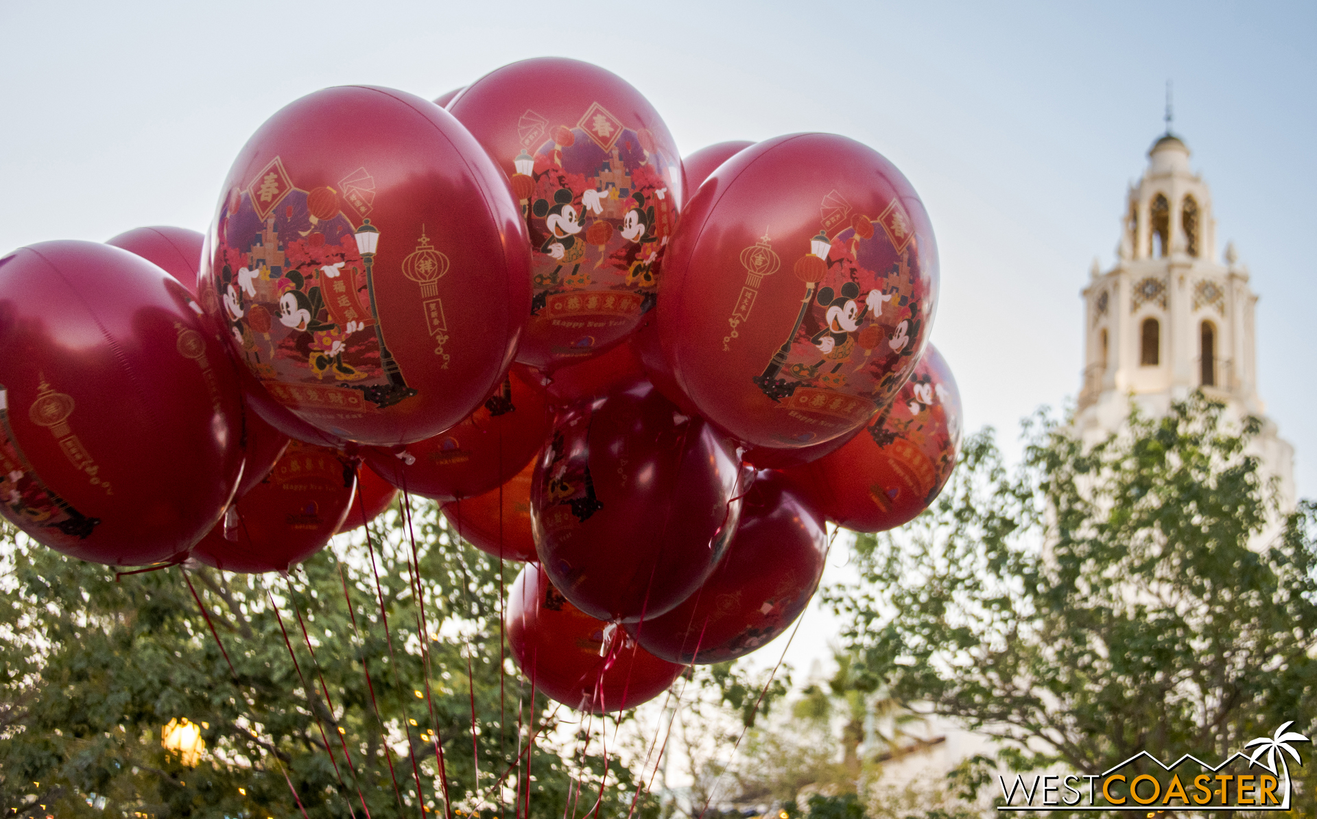Lunar New Year balloons from Shanghai Disneyland are being sold throughout DCA right now. They're pretty darn cute!