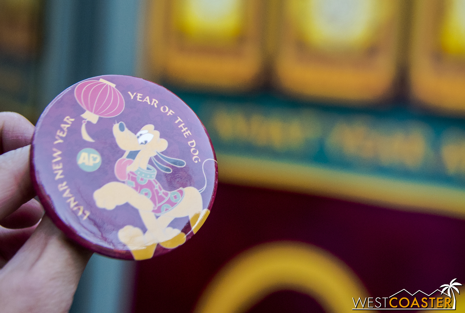Annual Passholders can also swing by the AP corner located just left of the Garden Grill and get their free Year of the Dog pin, featuring Pluto!