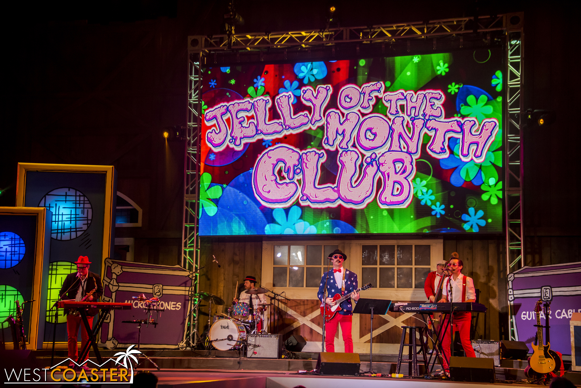 "The entire show is a set by ""kid-friendly adult band / adult-friendly kid band"" Jelly of the Month Club."