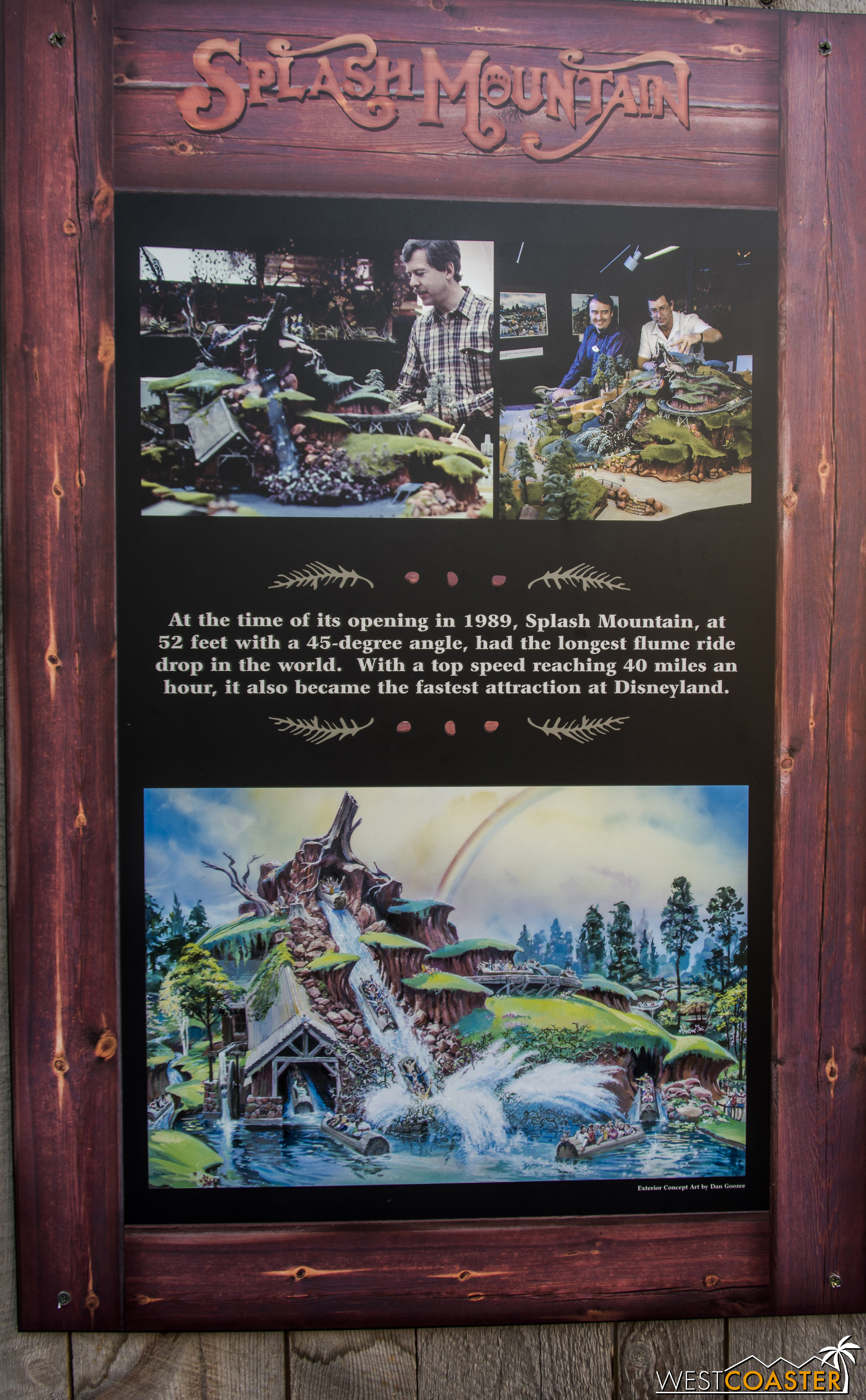 They've got a poster for the work walls here too, documenting Splash Mountain's history.  But something caught my eye in the old concept art the showed...