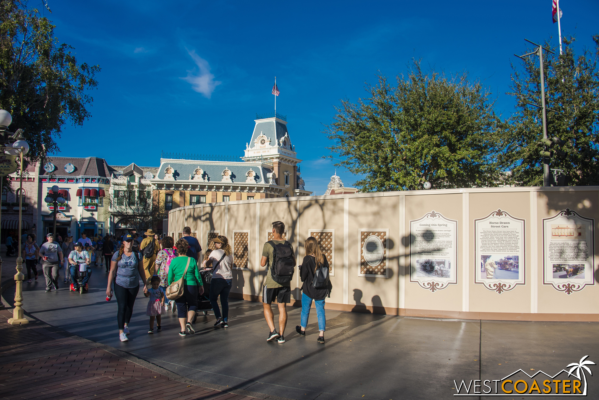 It was pretty dark when I made it to Main Street last week. Here are some daytime photos of the construction!