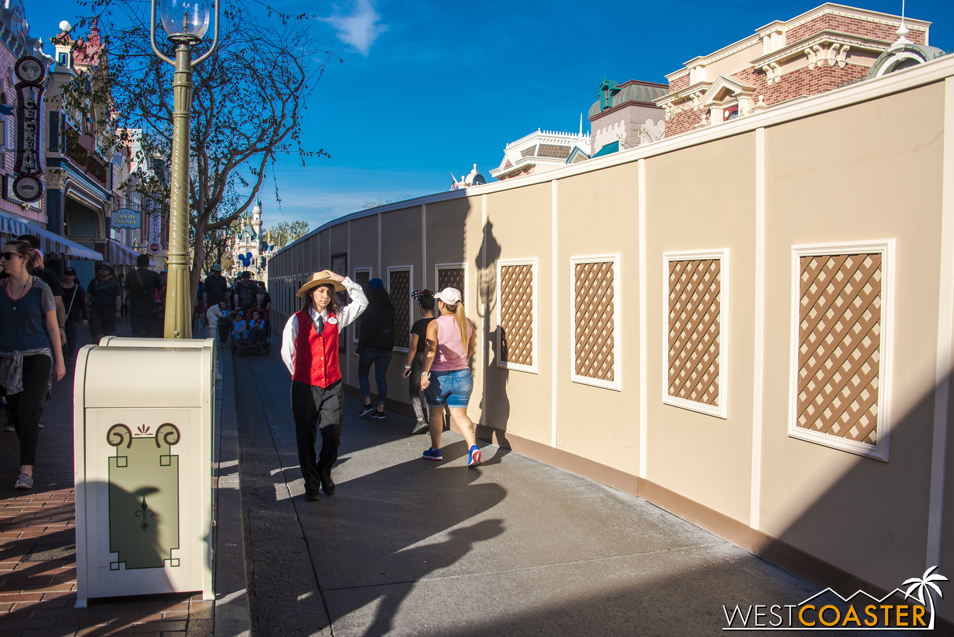When everything is done, the Main Street trolley tracks will look similar to what's at Buena Vista Street.