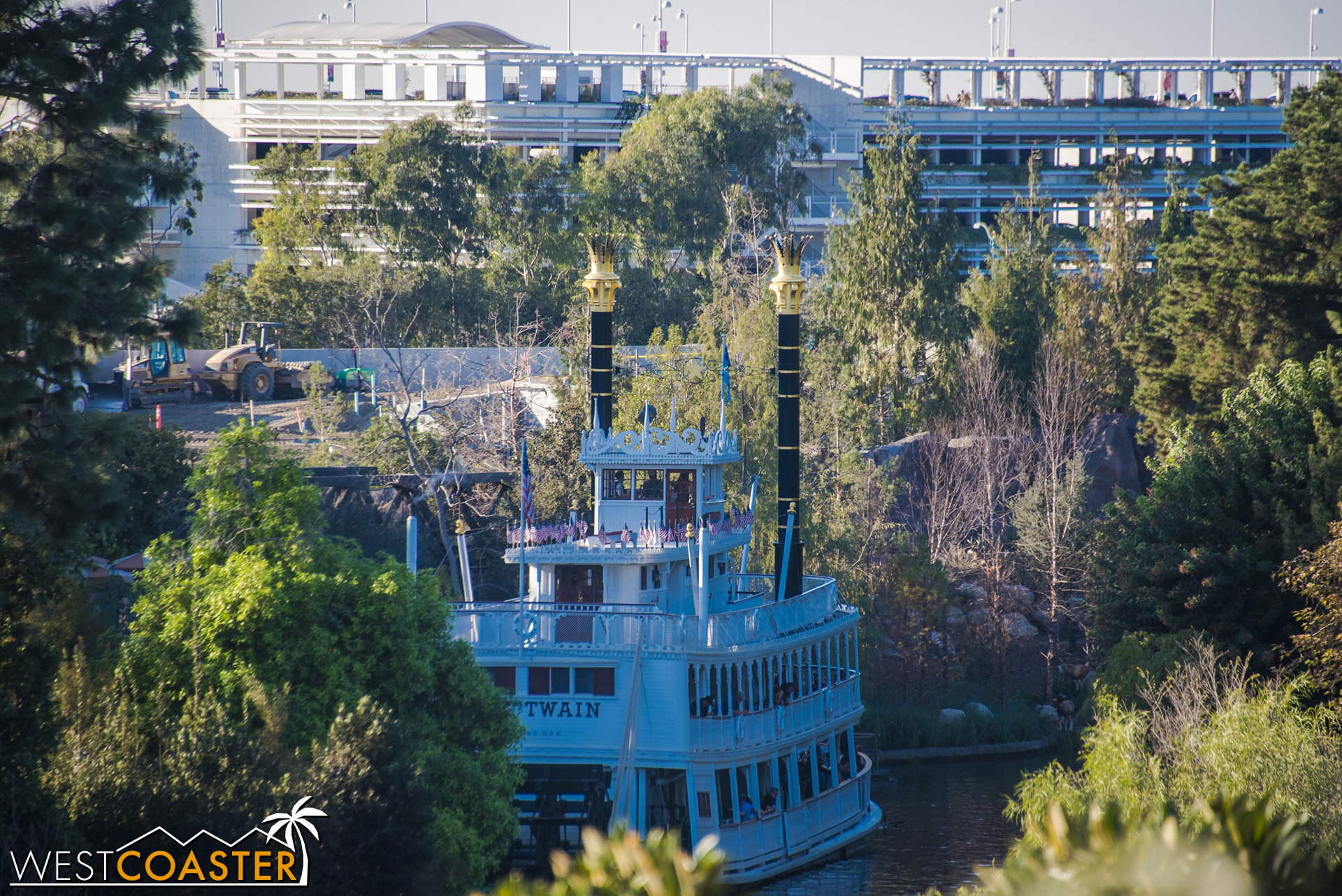 Over to the Critter Country side, you can see the dirt filling up against the retaining wall from a few photos ago.