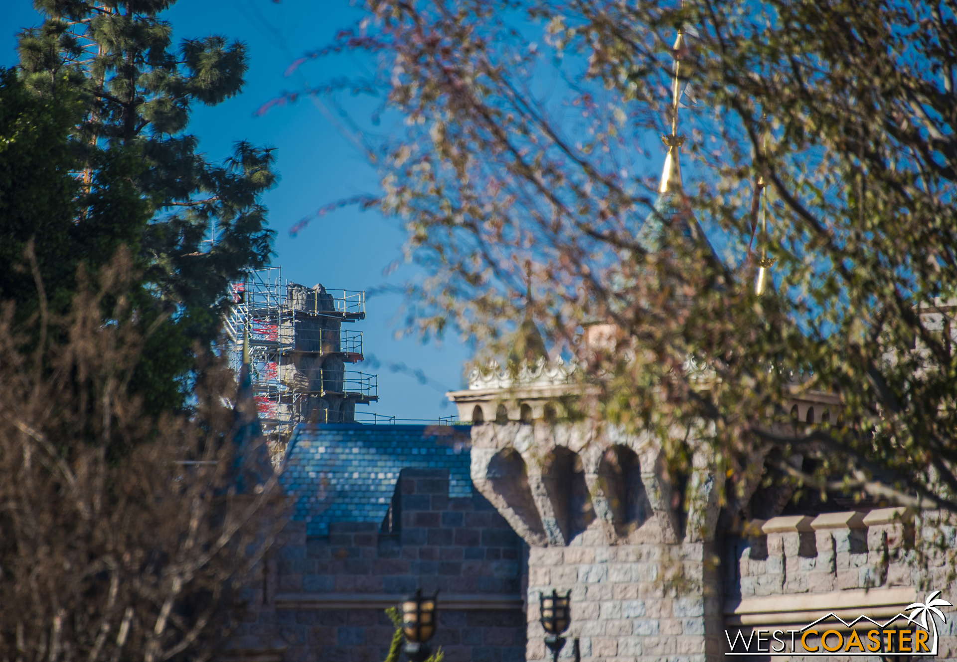 "And even away from the frontier, ""Star Wars"" Land is visible--if you're looking for it."