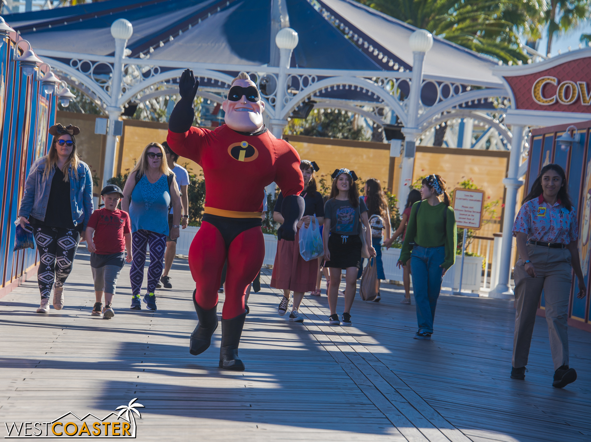 Mr. Incredible seems excited about all the changes.