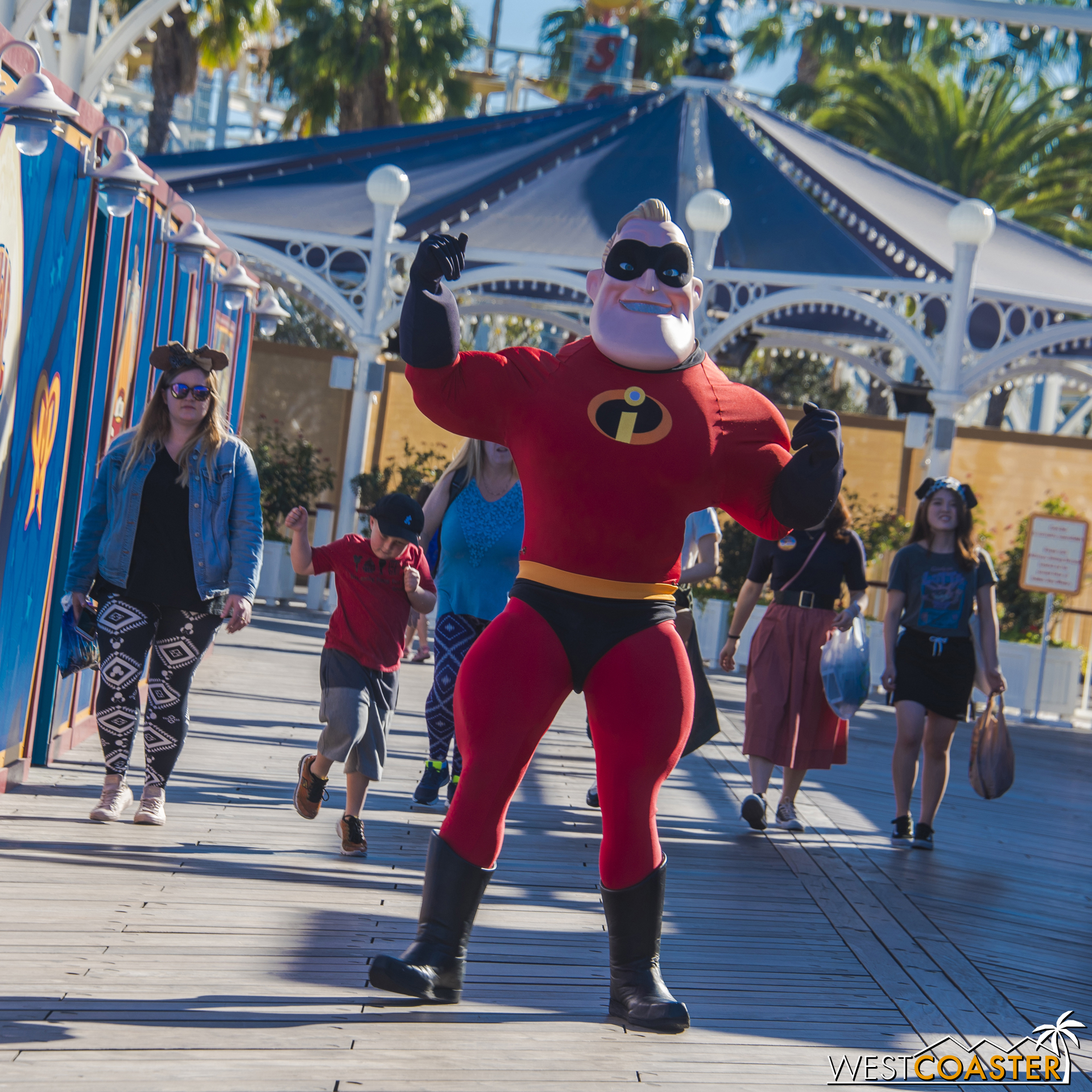 Perhaps he appreciates the synergy, since he'll be in a new movie this summer that opens right as Pixar Pier debuts.