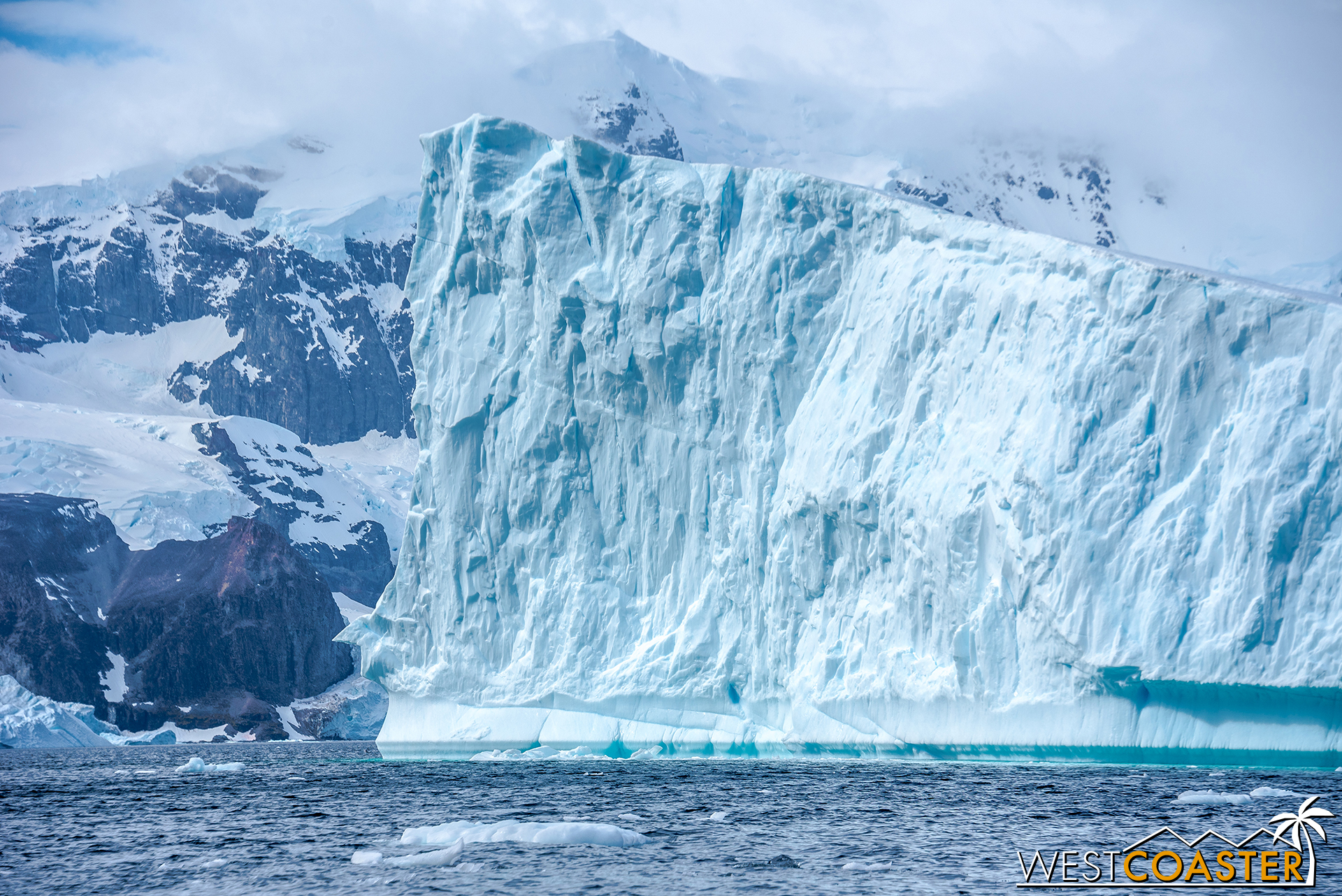Other examples of sea ice tower well above the water.