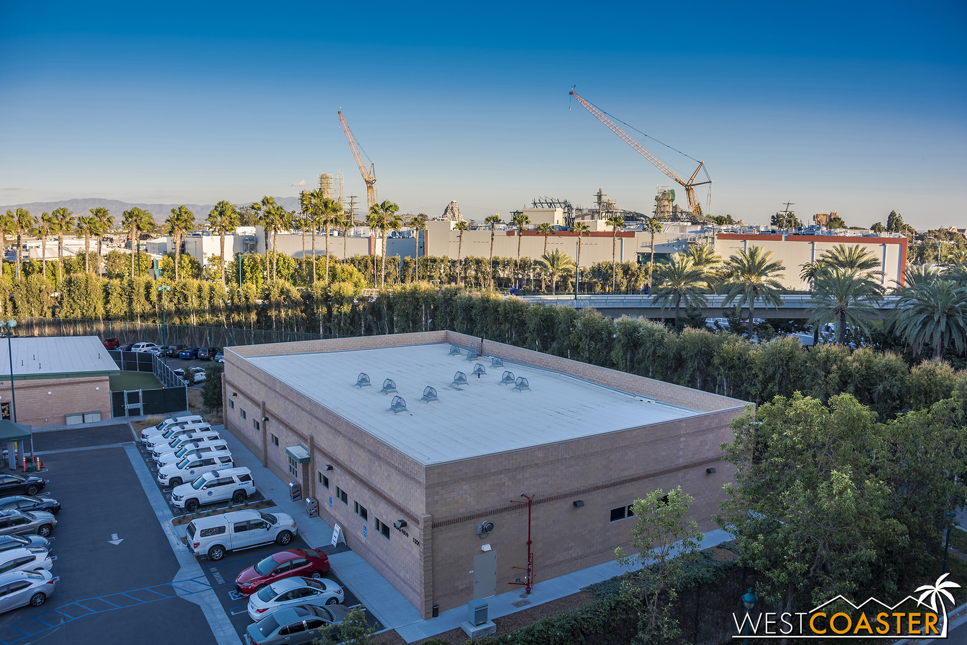 """For the first time ever, I'm not starting the """"Star Wars"""" Land series with a panorama of the construction site taken from the southeast corner of the Mickey and Friends Parking Structure."""