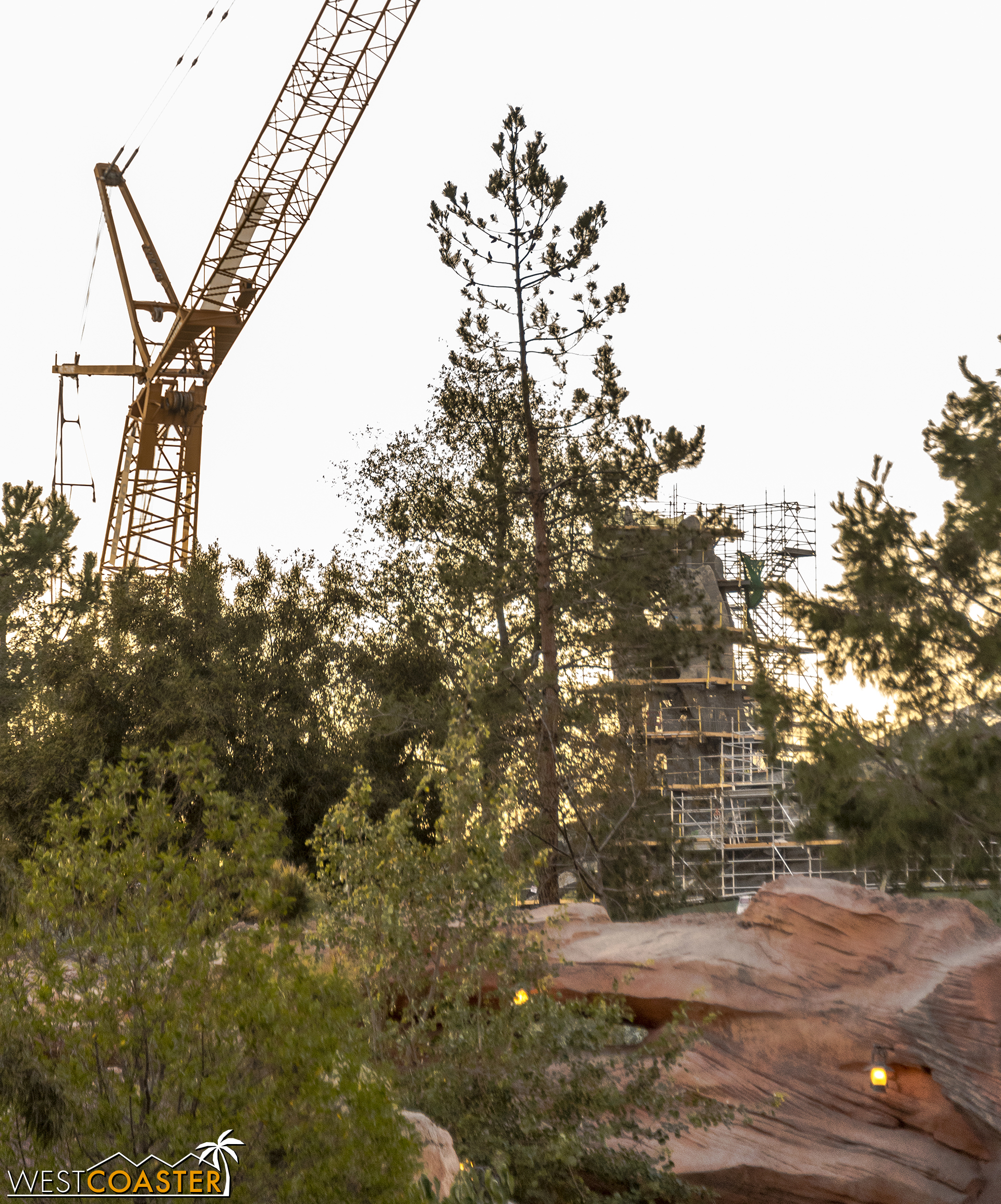 """Here's a view of """"Star Wars"""" Land from along Big Thunder Trail."""