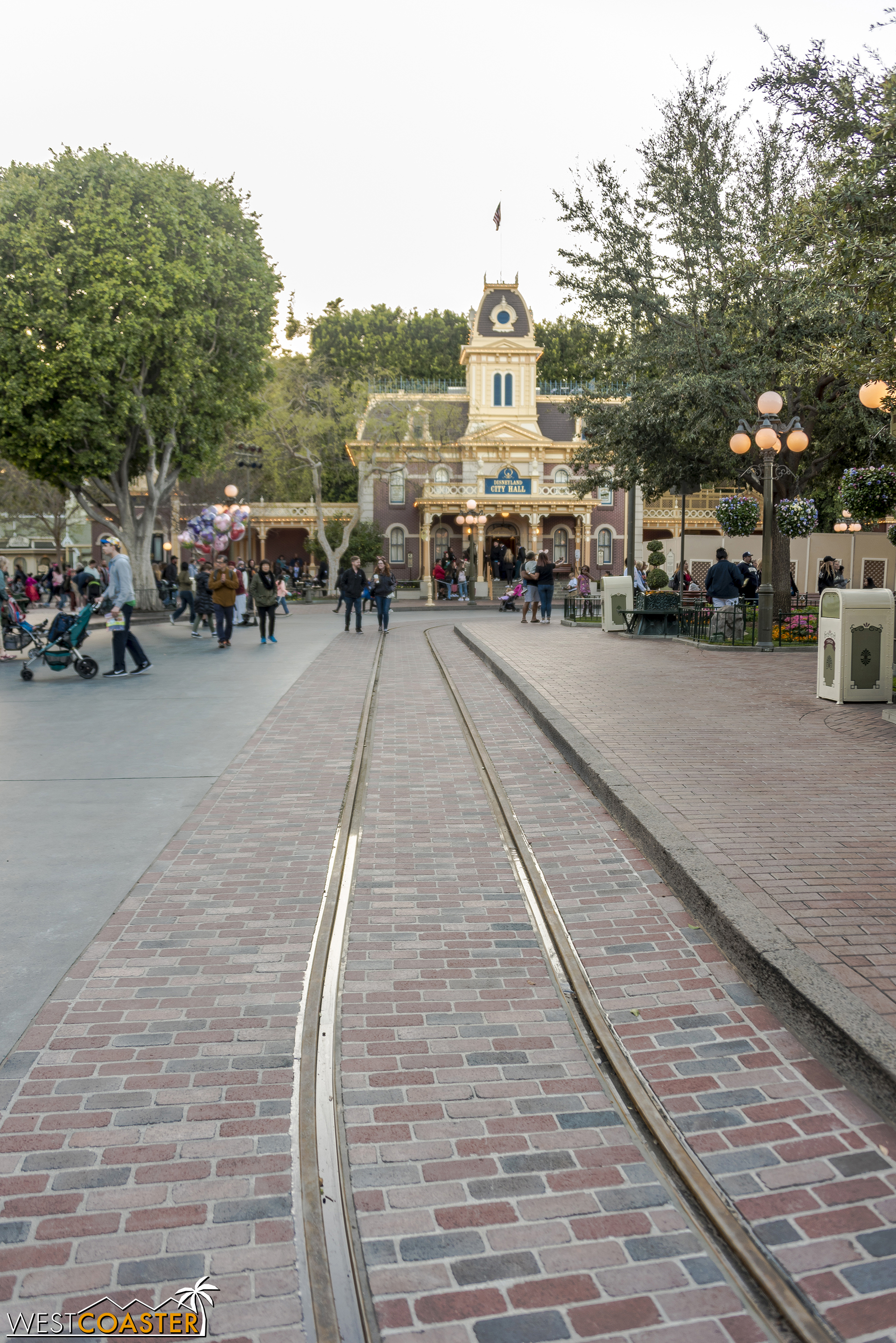 Well lookie here, we've got some freshly unveiled Main Street trolley track!