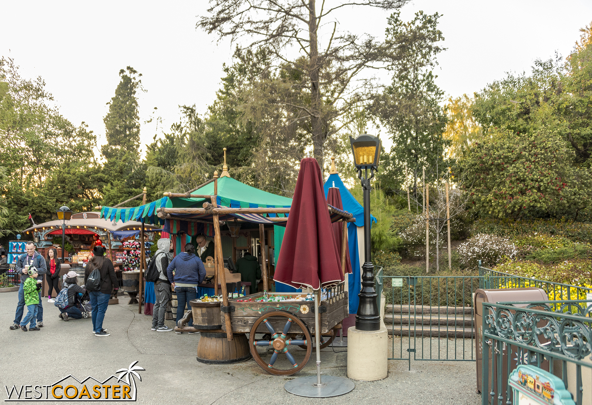 The back end of Fantasyland is under refurbishment, starting from just right of this frame.