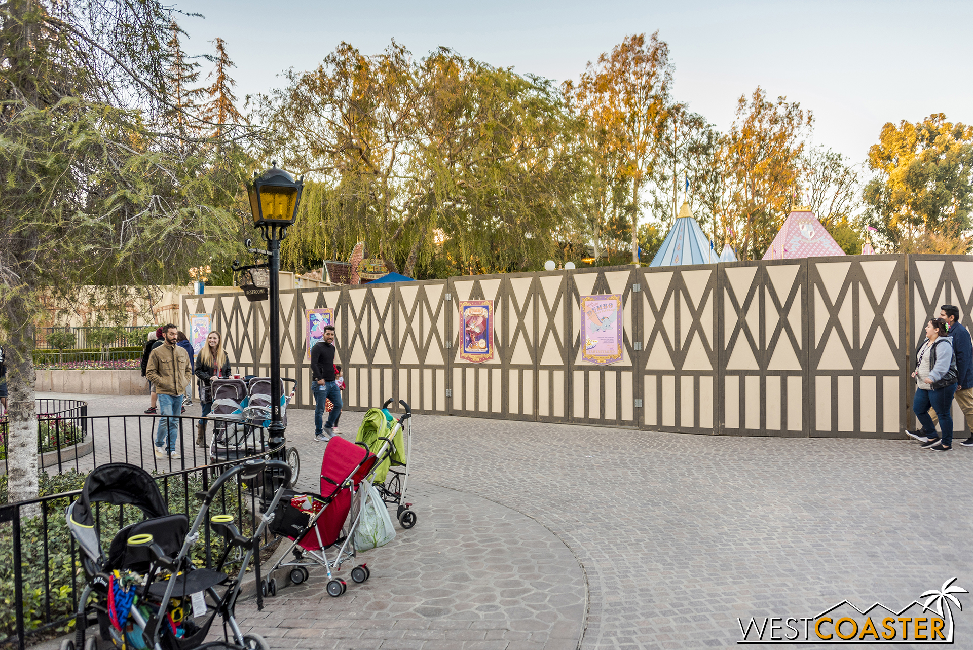 They're changing up the queue and building a shade canopy for the ride.