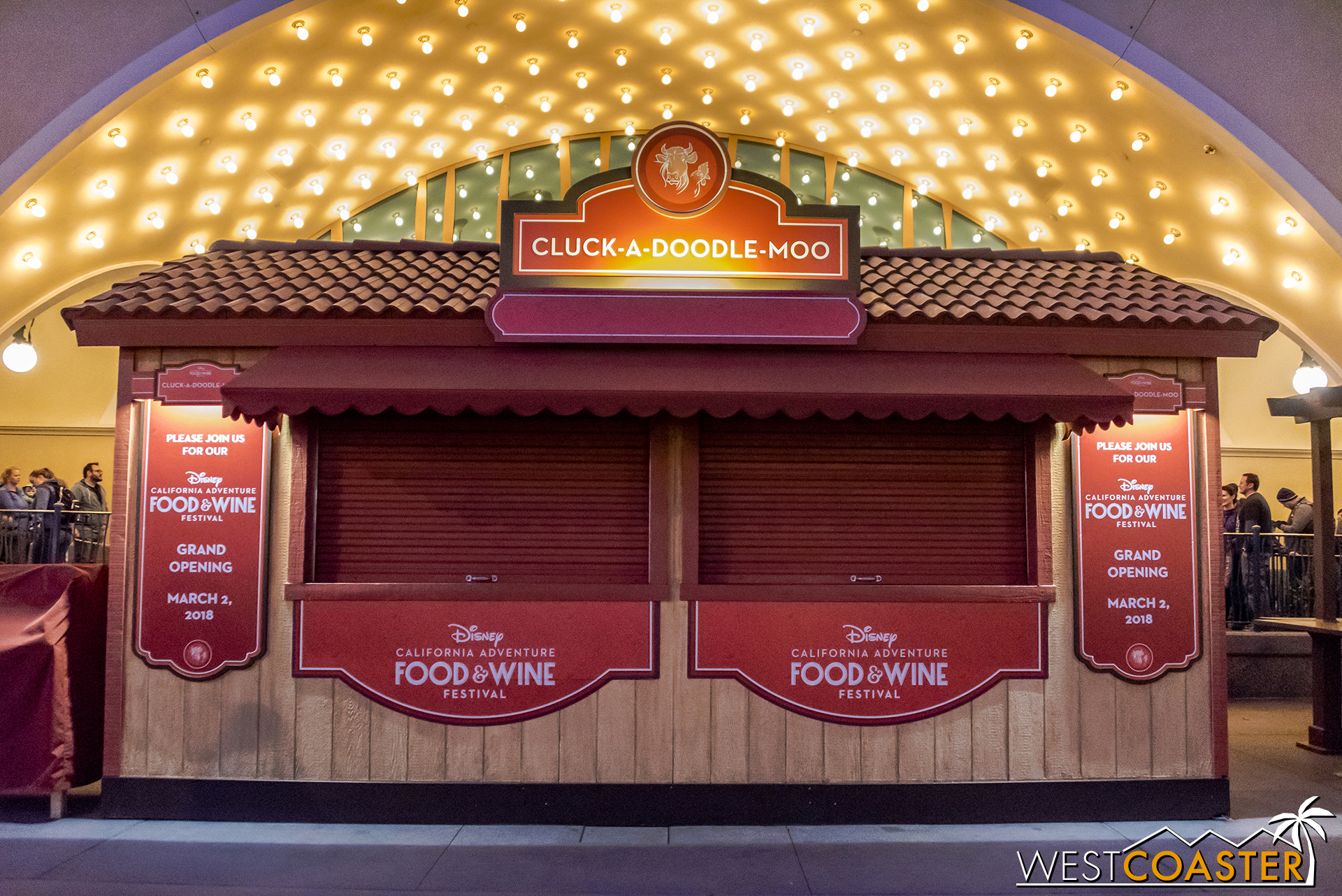 The only double window booth gets center staging in front of the Little Mermaid show building.