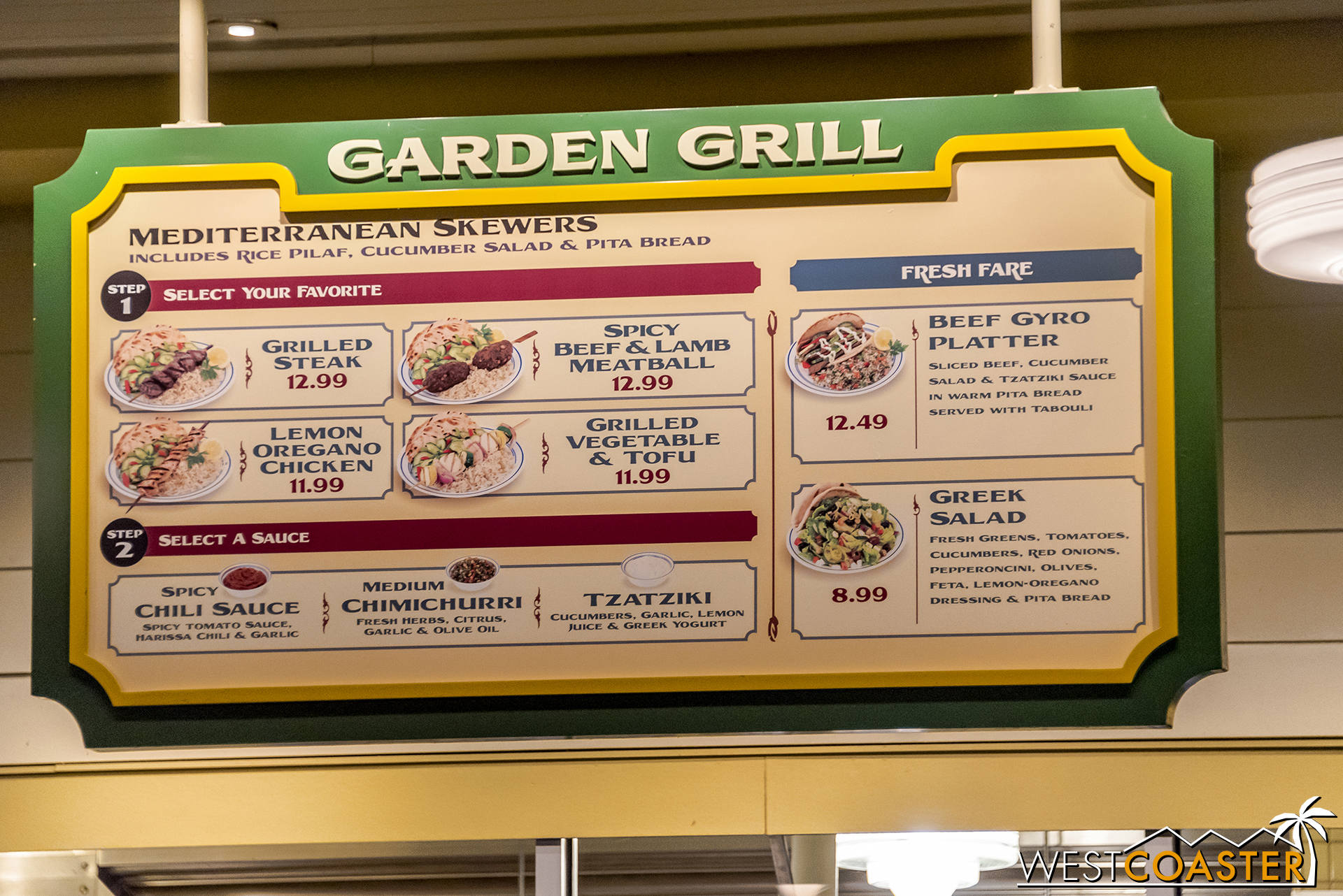 It seems like the Garden Grill has its regular menu less often than a seasonal menu these days. Grab some skewers before they go away again.