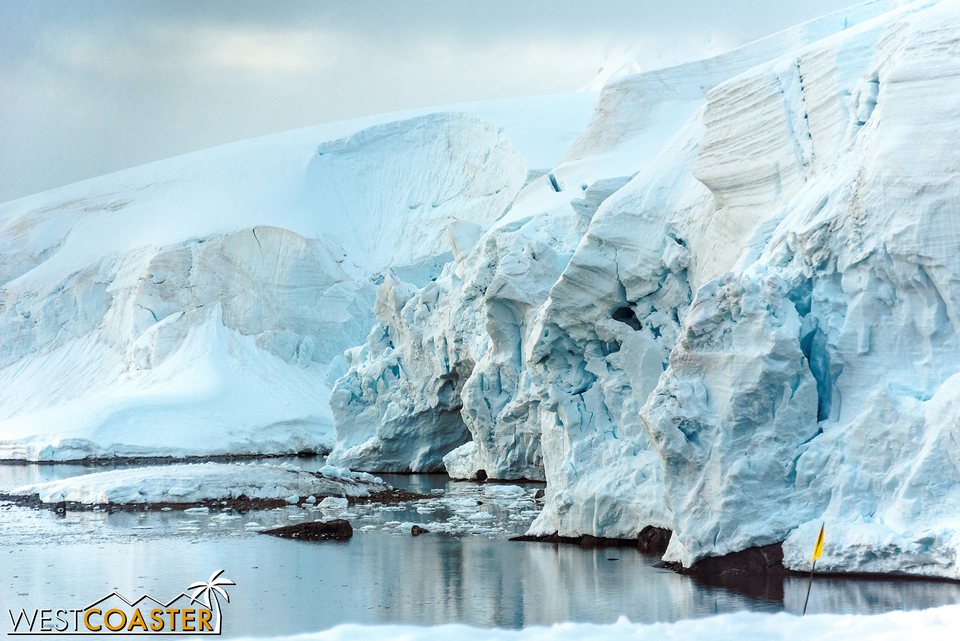 The textures showcase the constant motion of Antarctica.