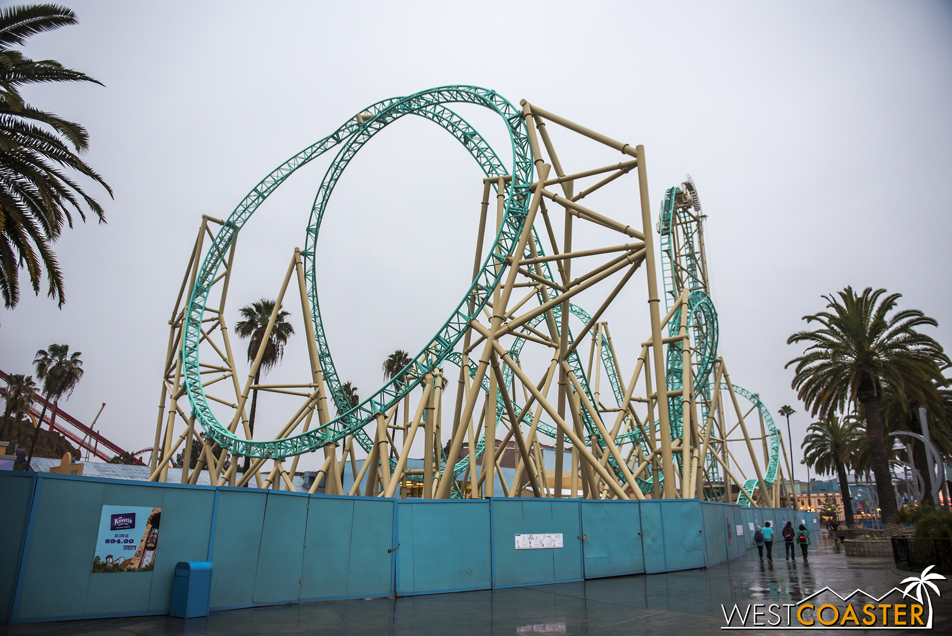 One drizzly March afternoon at Knott's Berry Farm HangTime was testing!