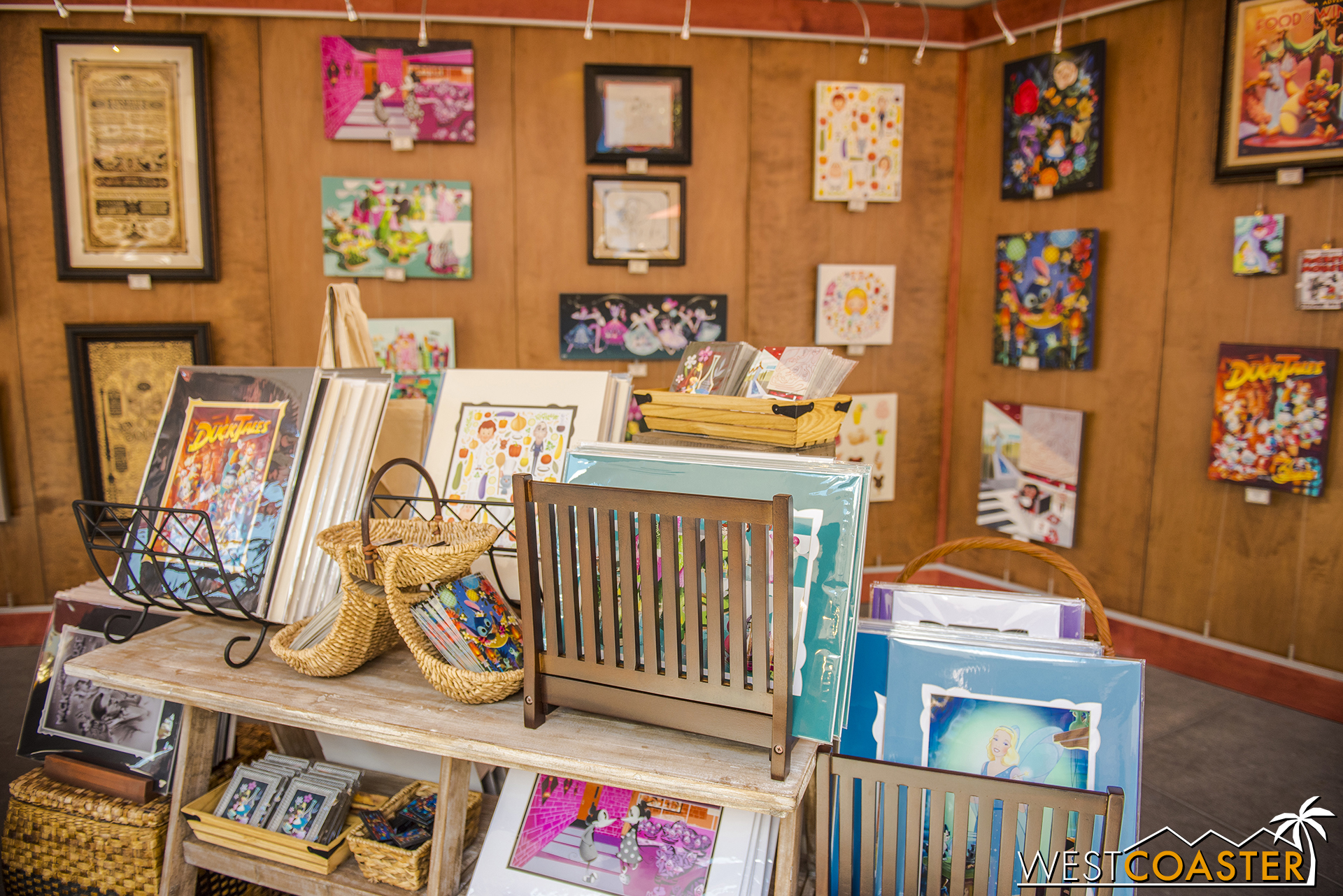 There is also a bit of a Wonderland Gallery pop up shop right adjacent, for Disney art fans.