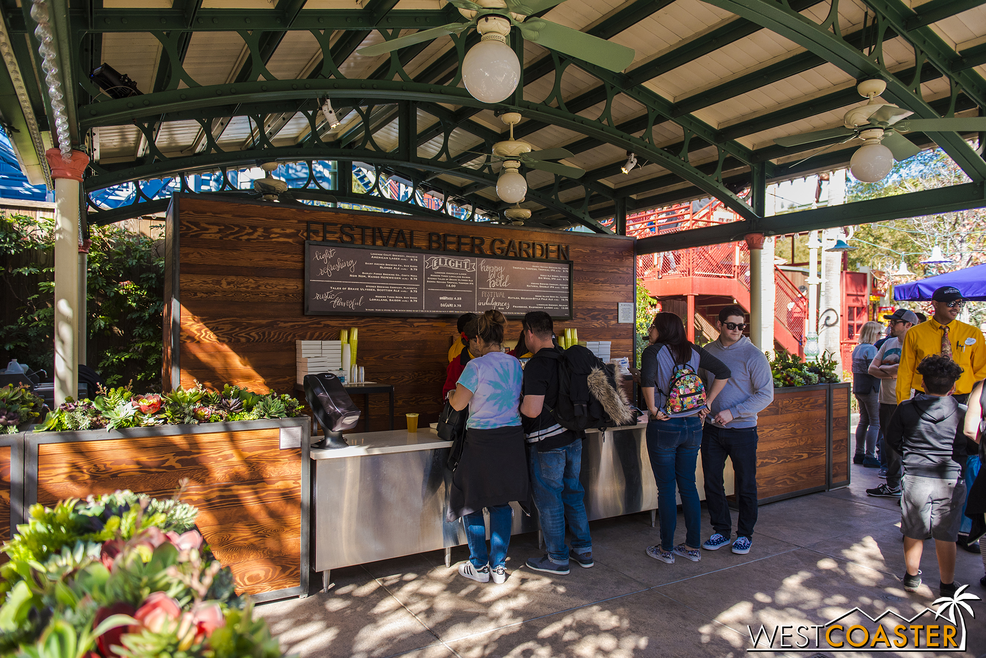 The Festival Beer Garden is back at DCA.