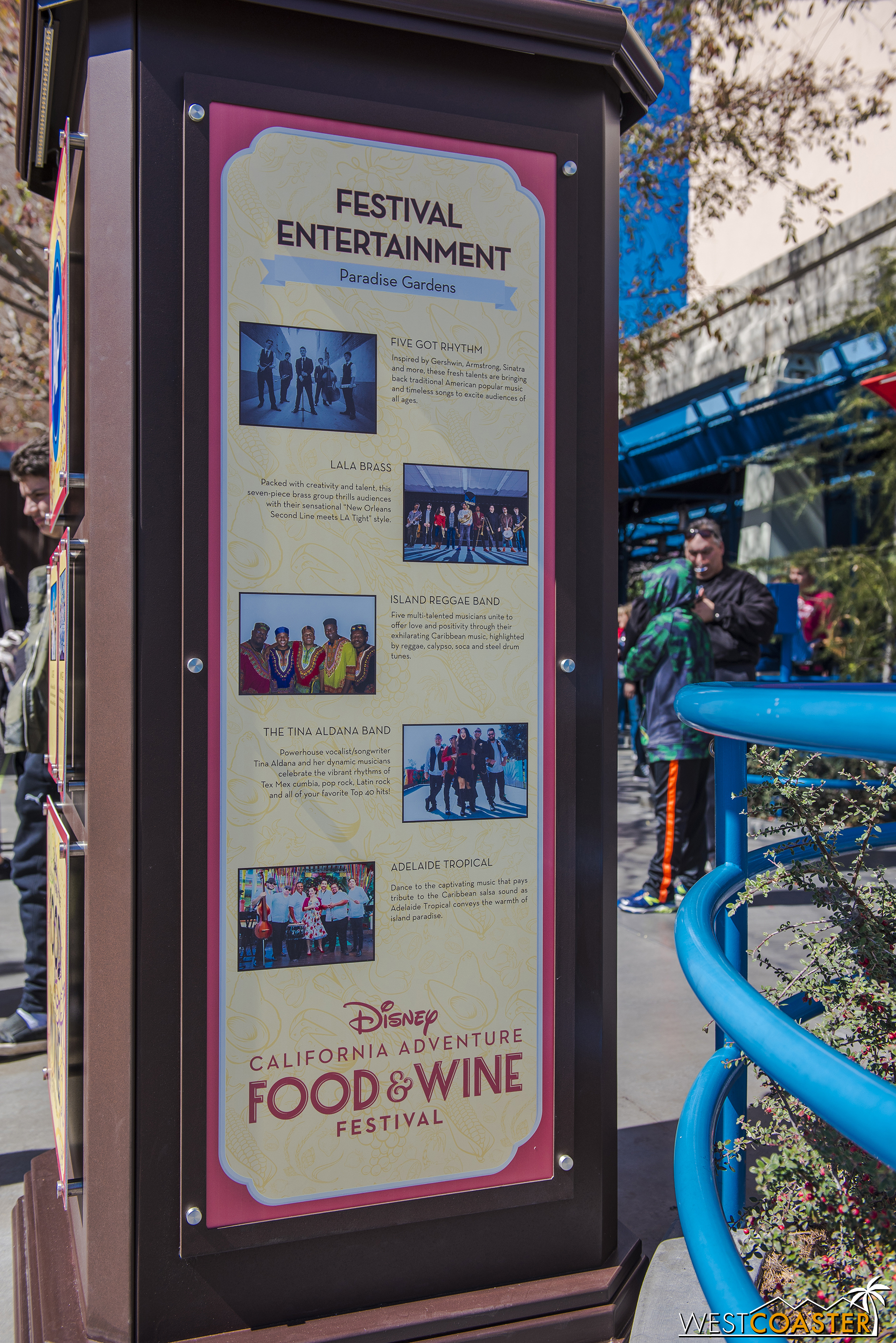 Just some of the artists performing at Food & Wine this year.