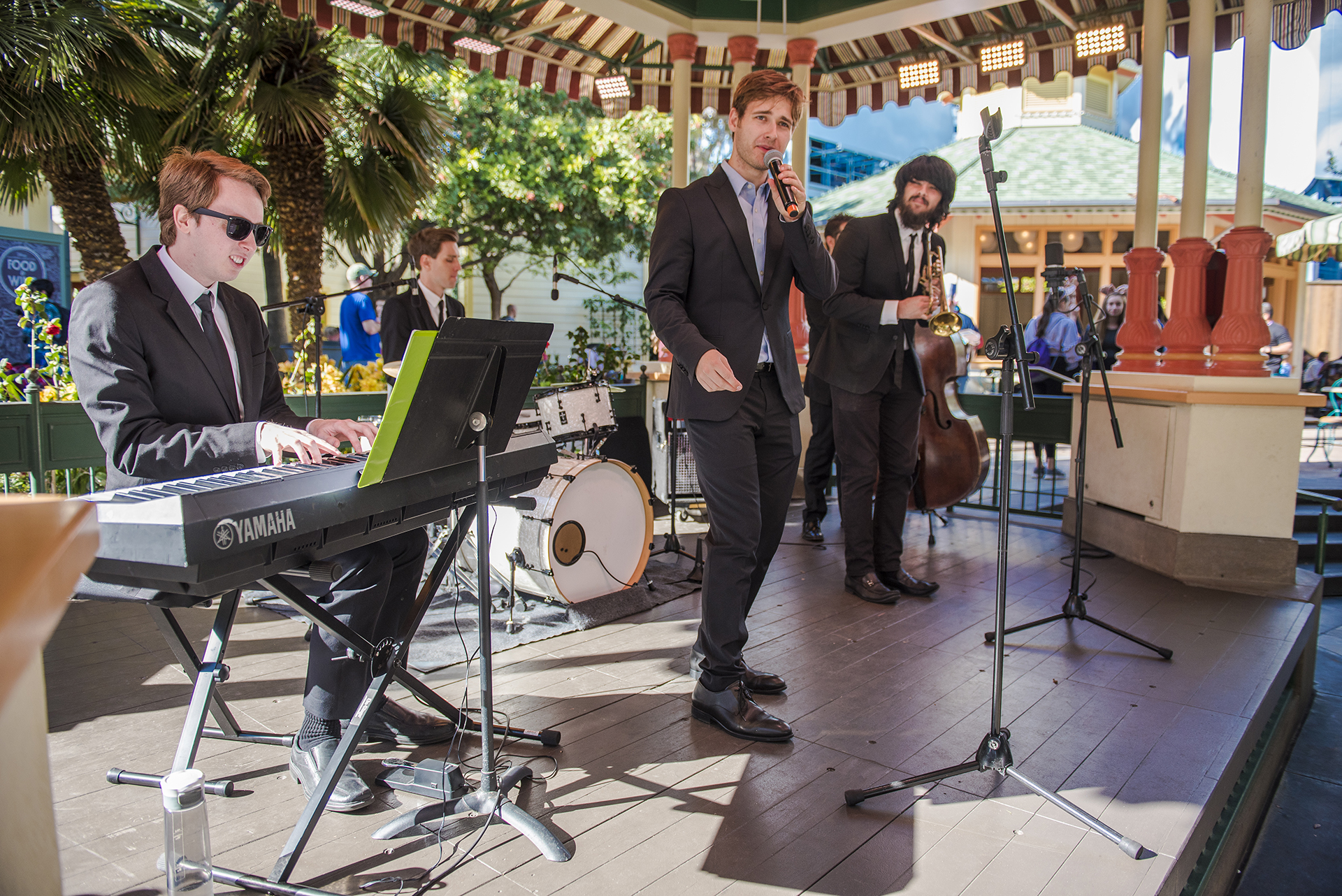 Five Got Rhythm perform at the Paradise Gardens Bandstand.