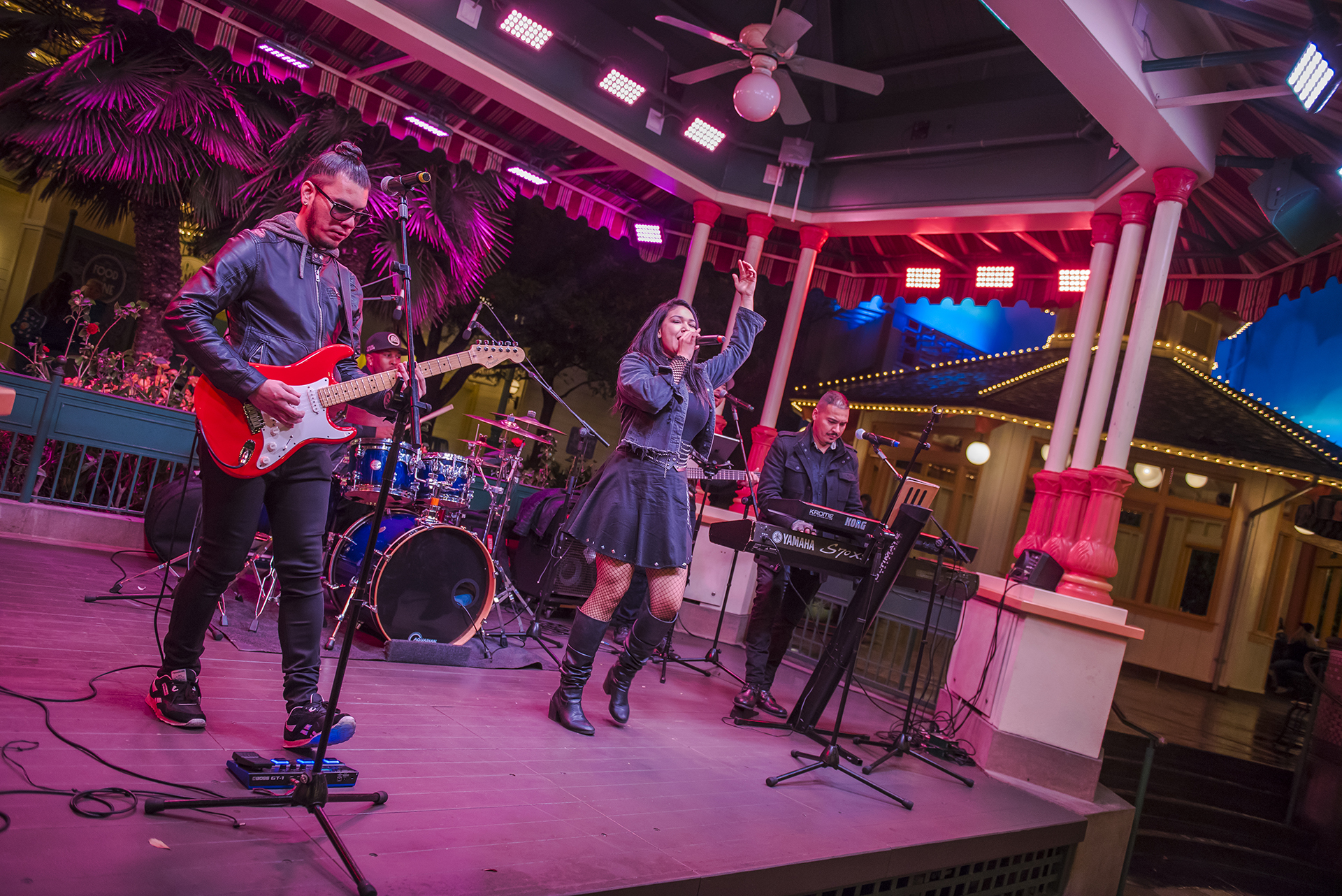 Her band provides a jukebox of hits across the past several decades.