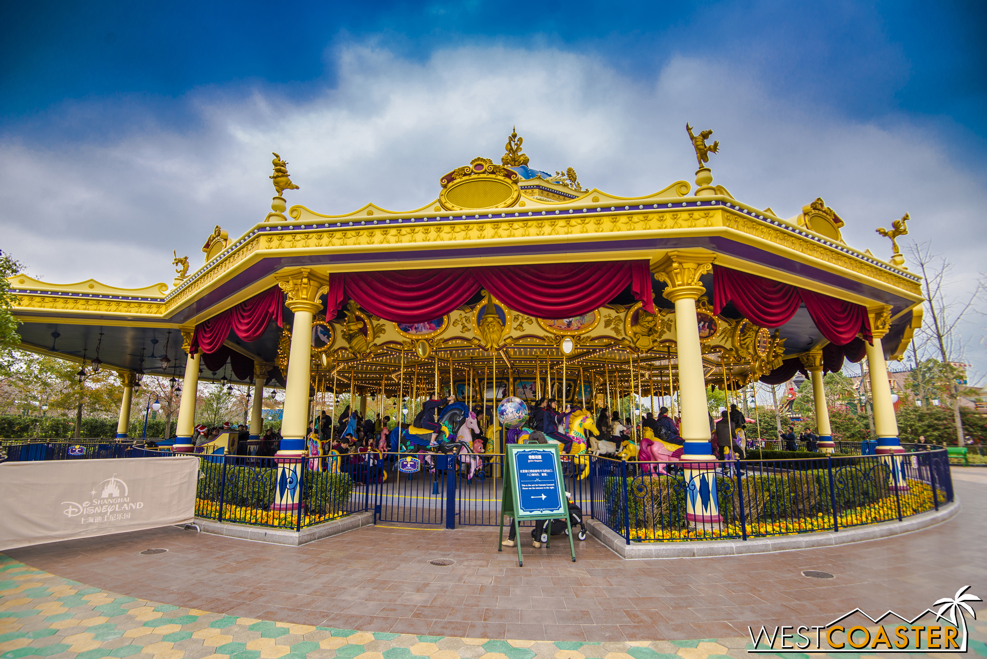 The lovely and whimsical Fantasia Carousel.