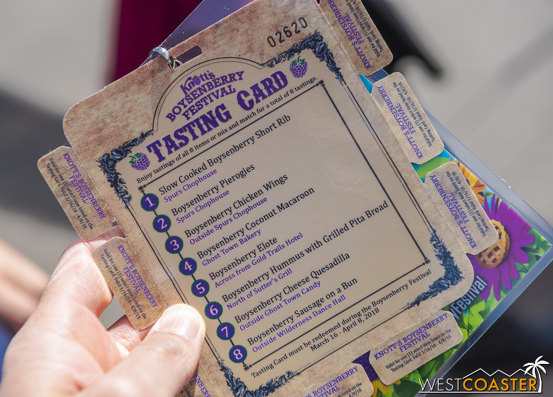This year's Tasting Card is $30 and different from last year--but a little familiar to fans of a certain nearby park's food festival.
