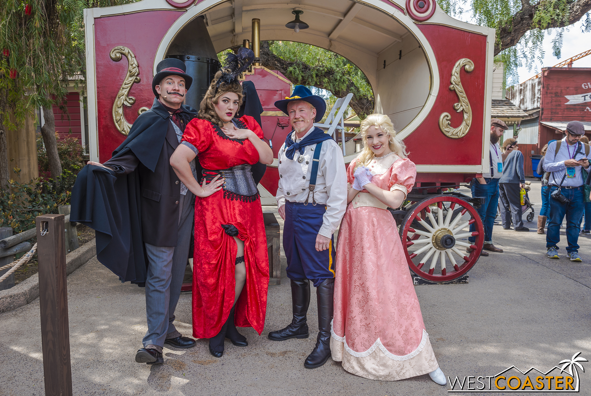 The cast of the Old Time Melodrama outside the theater.