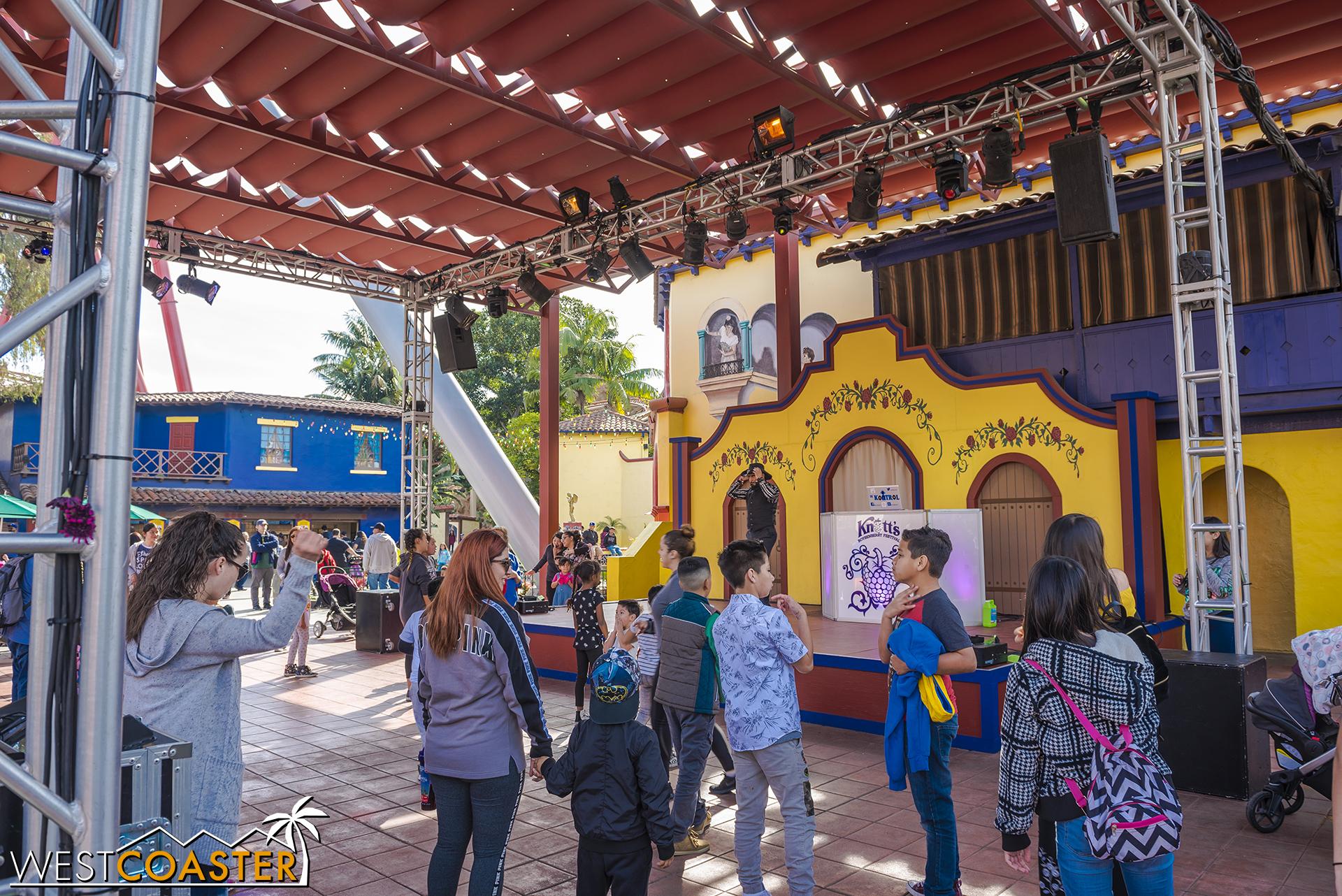 It's a dancing scene in Fiesta Village.