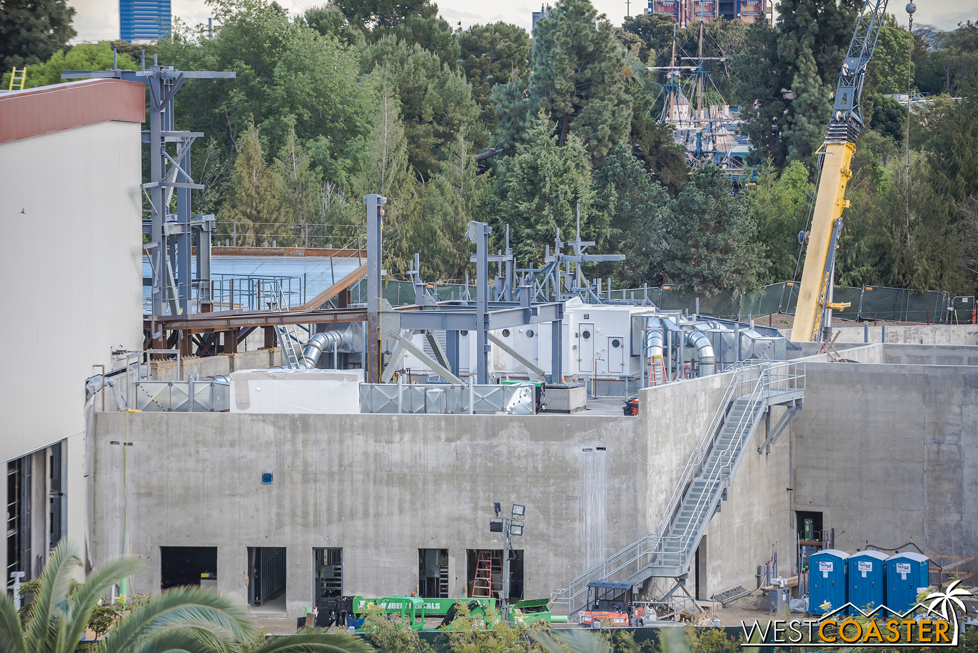 More steel is extending from the building as part of other structures!