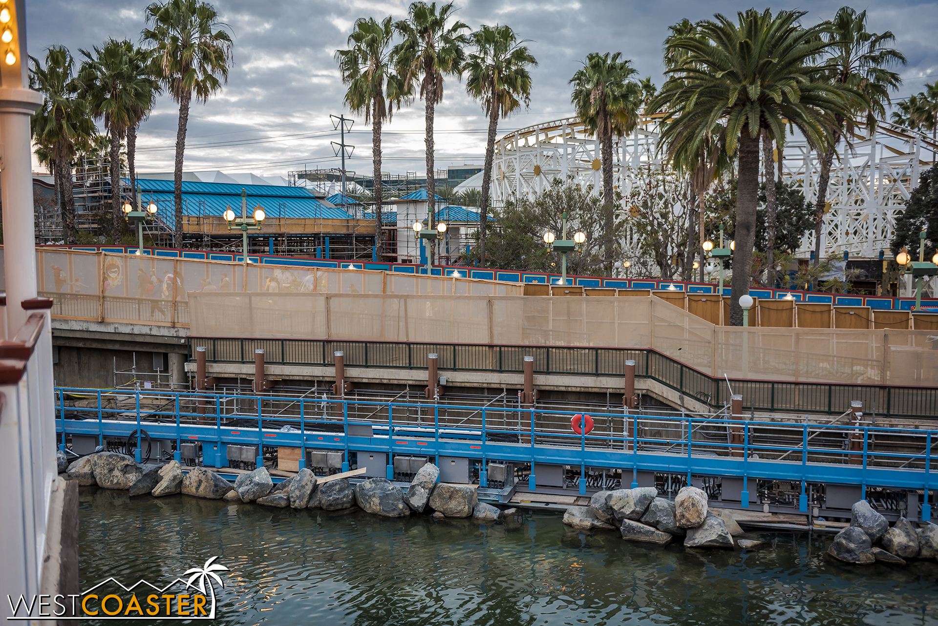 Also, here's this week's progress on the Incredicoaster station roof updating.