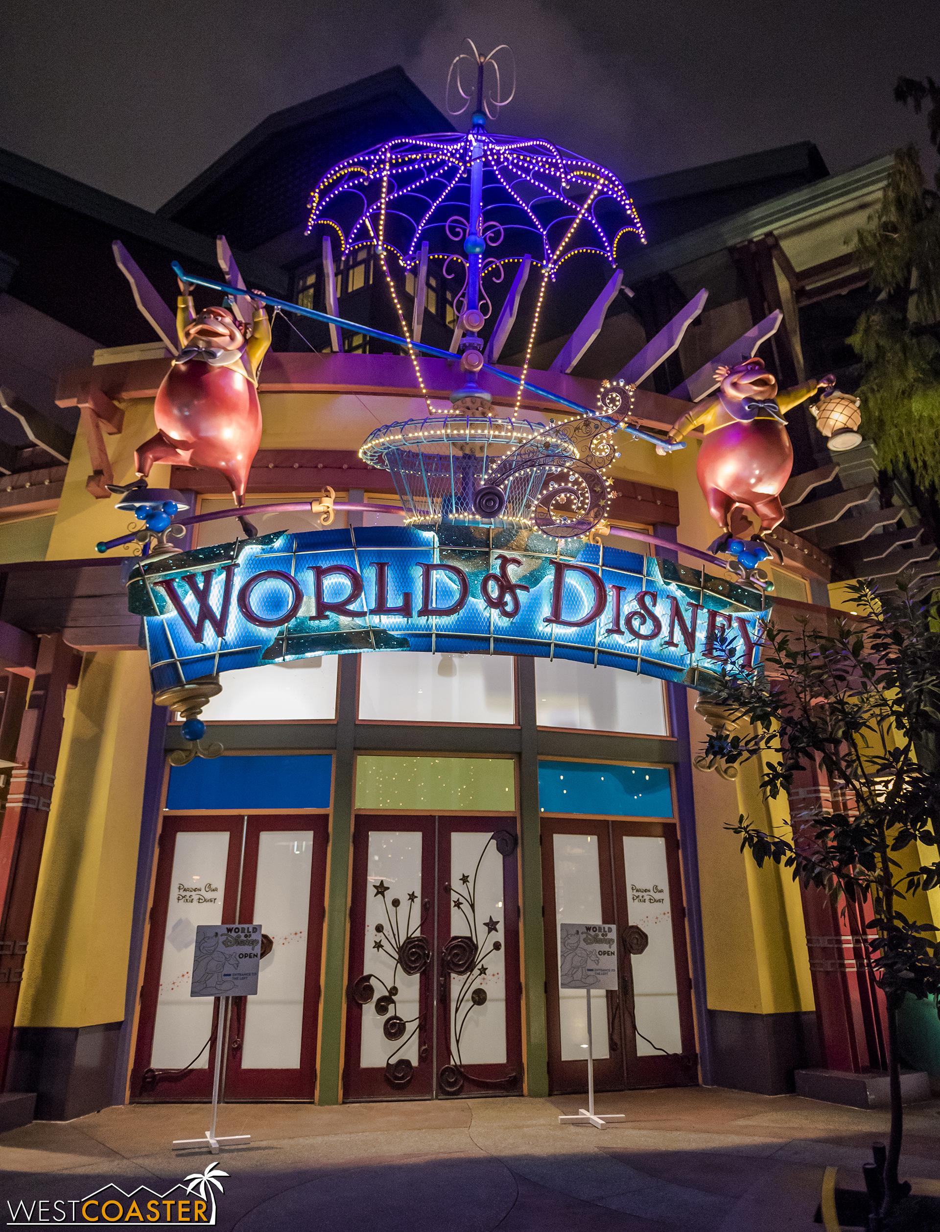 So for now, enter World of Disney from the La Brea Bakery side, not the Starbucks side.