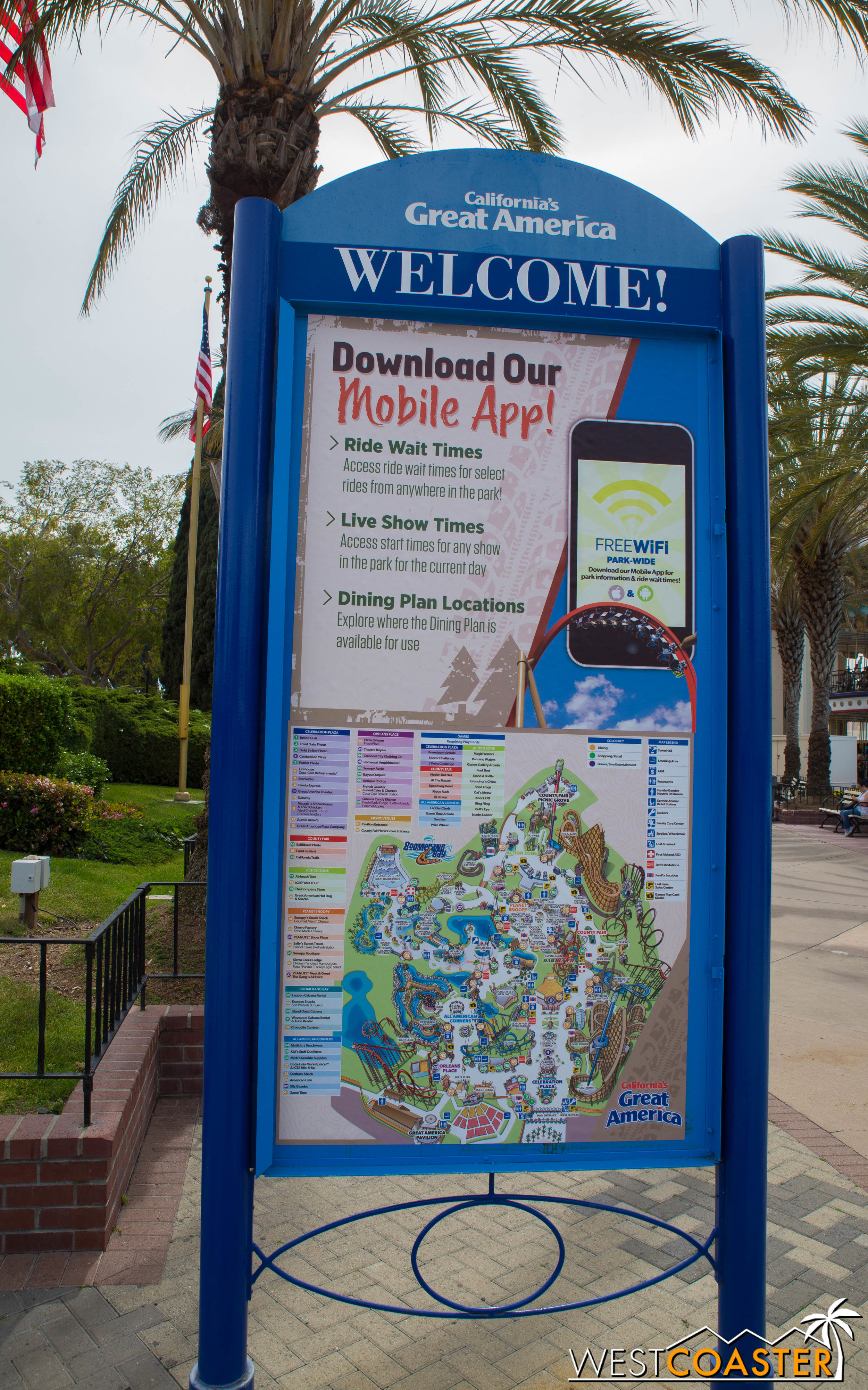 Pro-tip: CGA's really made a effort to improve guest experience. Their app is fantastic, and they PARK HAS WIFI (Take note, Disney California Adventure)