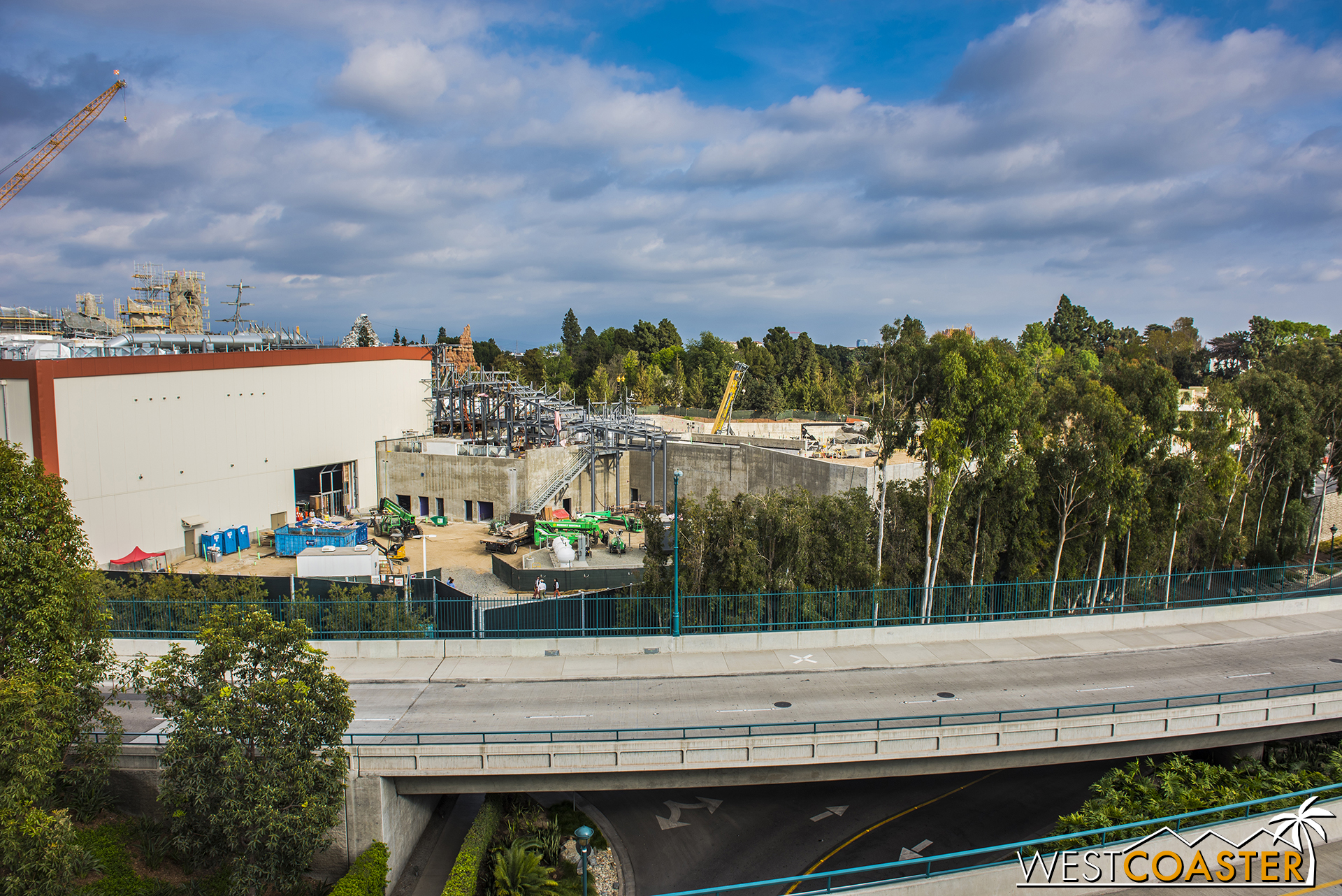 "Yes, joining ""Star Wars"" Land construction is work on the upcoming new Mickey & Friends neighbor parking structure."
