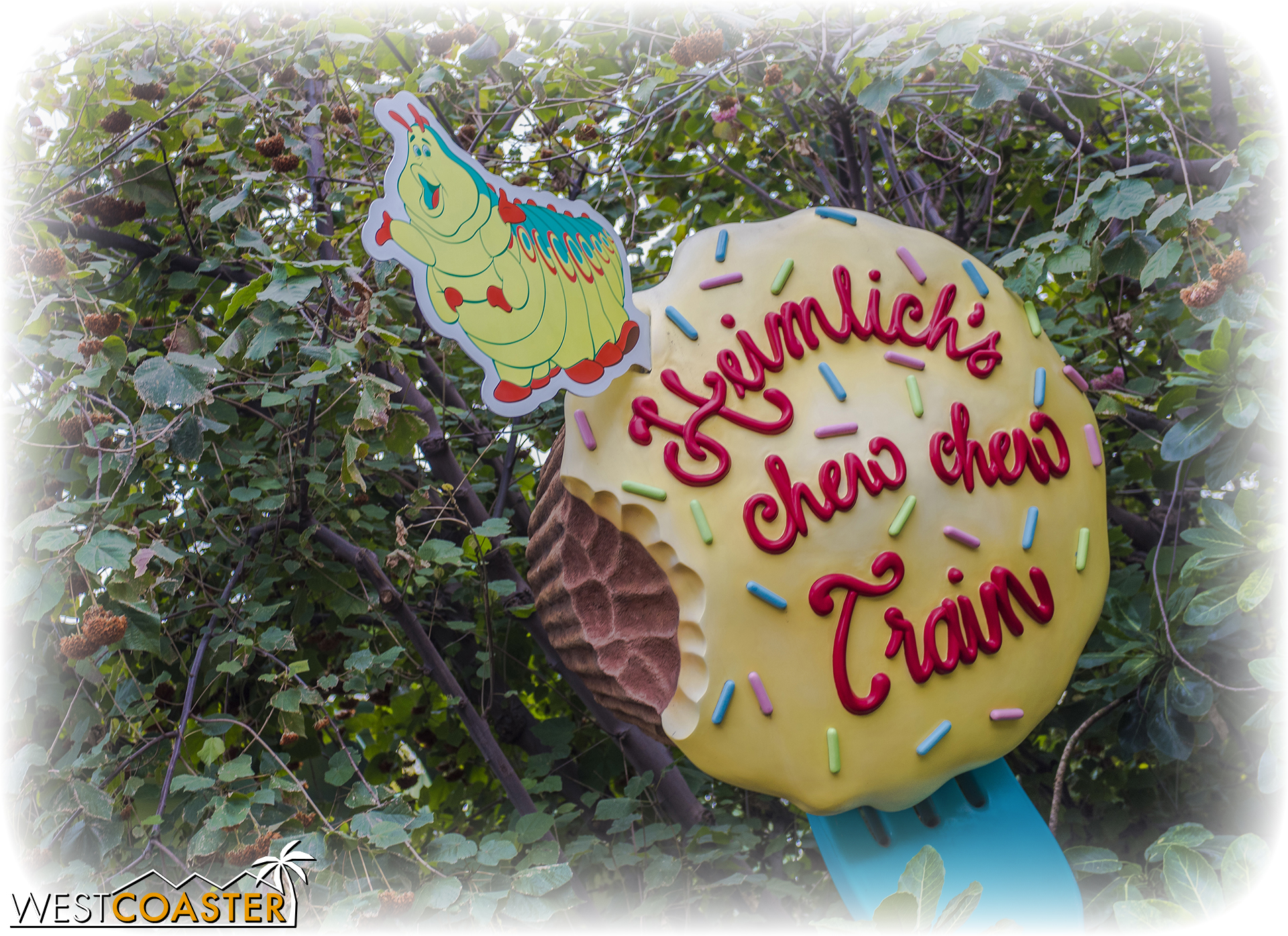 Most devastatingly, though, we bid adieu to the best ride in the history of the universe, Heimlich's Chew Chew Train.