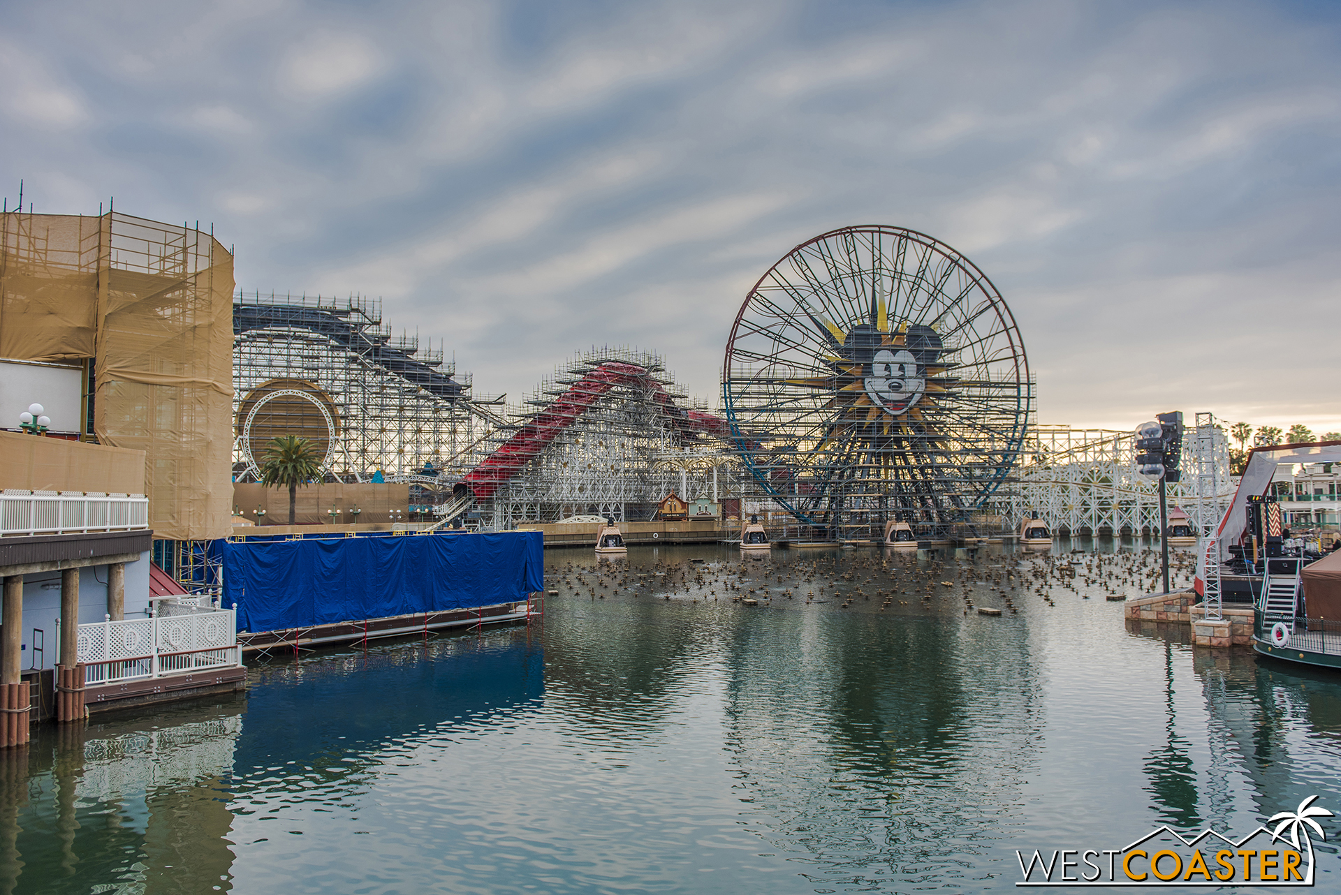Another gloomy late afternoon at future Pixar Pier.