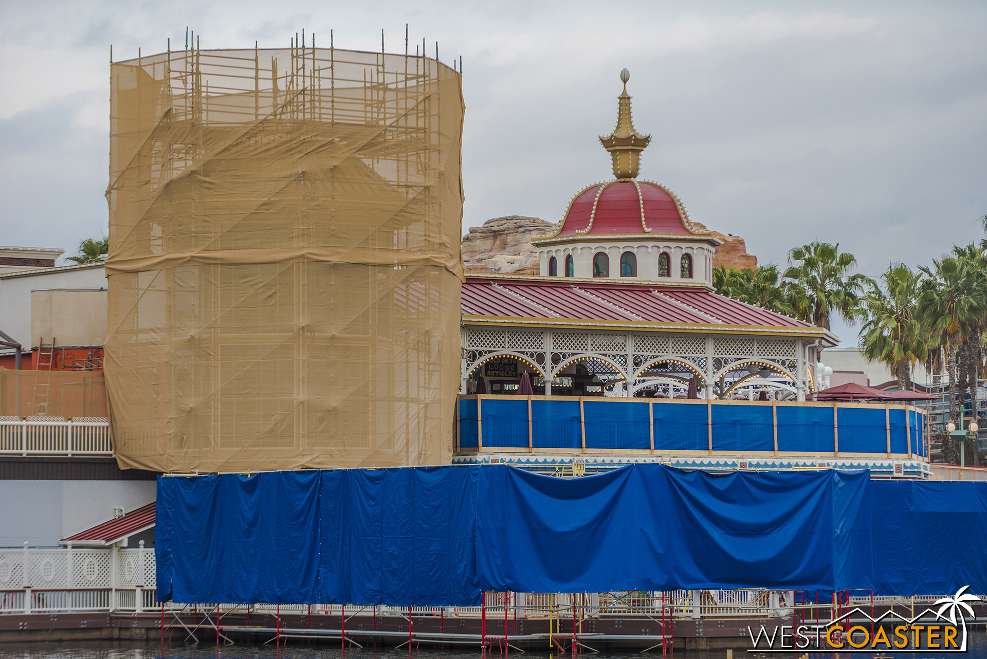 Like everything else on Pixar Pier, this will be receiving a new color scheme.