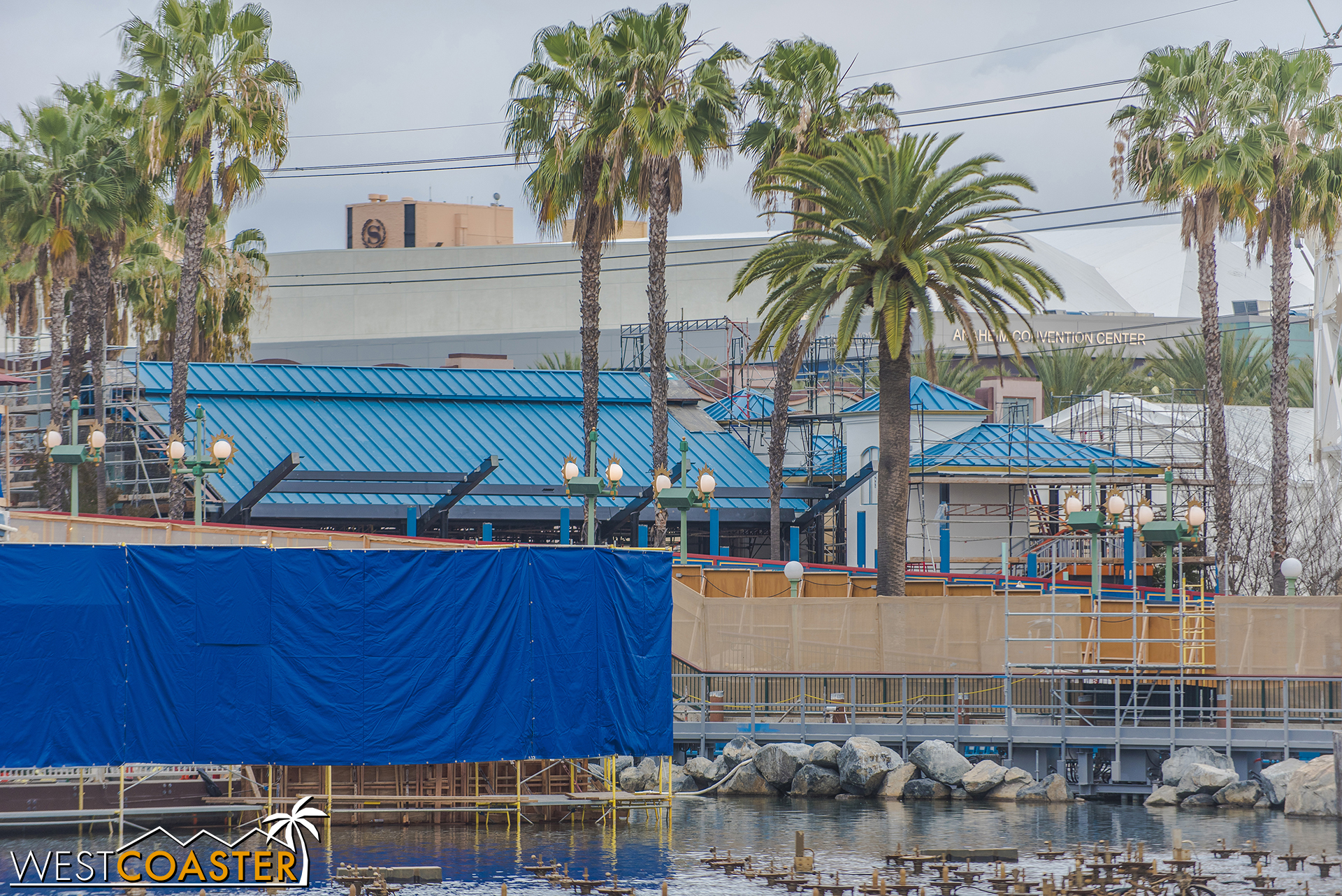 Over on the launch side, some steel has popped up for the Incredicoaster station. But more on that in a bit.