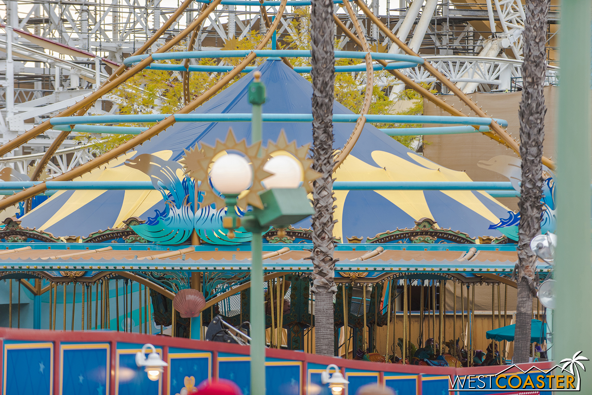 The carousel animals are still from Triton's ocean variety.