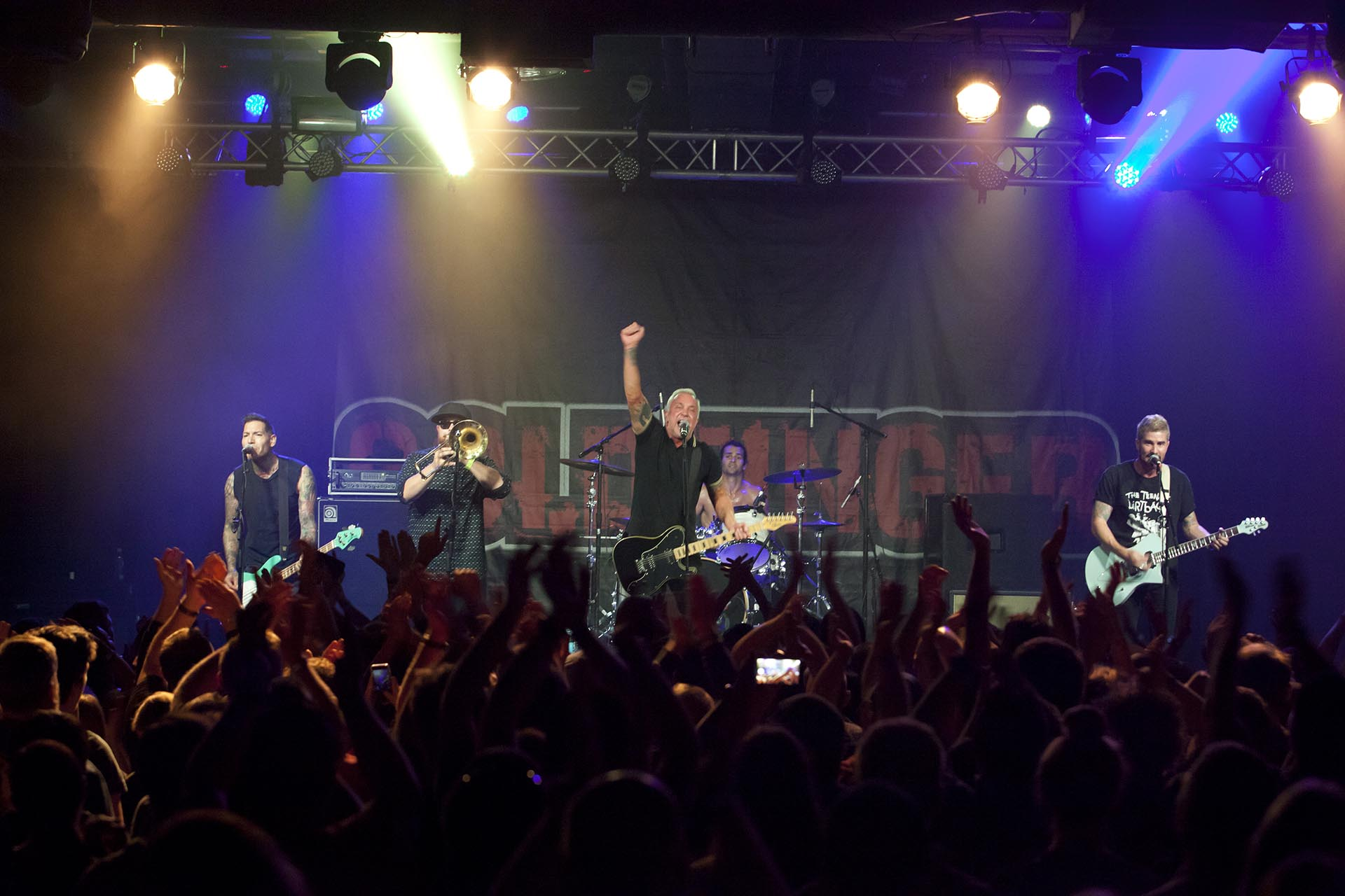 Festival co-founder John Feldmann and his band, Goldfinger.  Photo courtesy of Back to the Beach Festival.