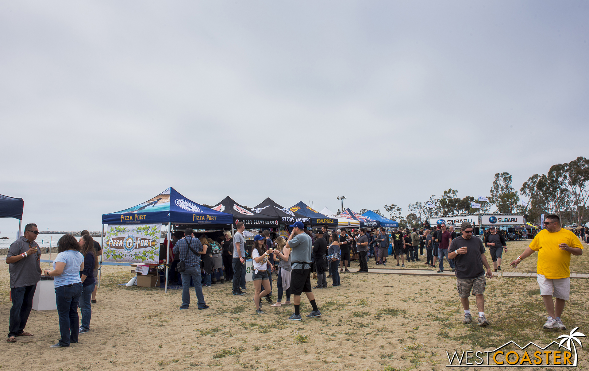 Each brewery had its own tent with its own branding.