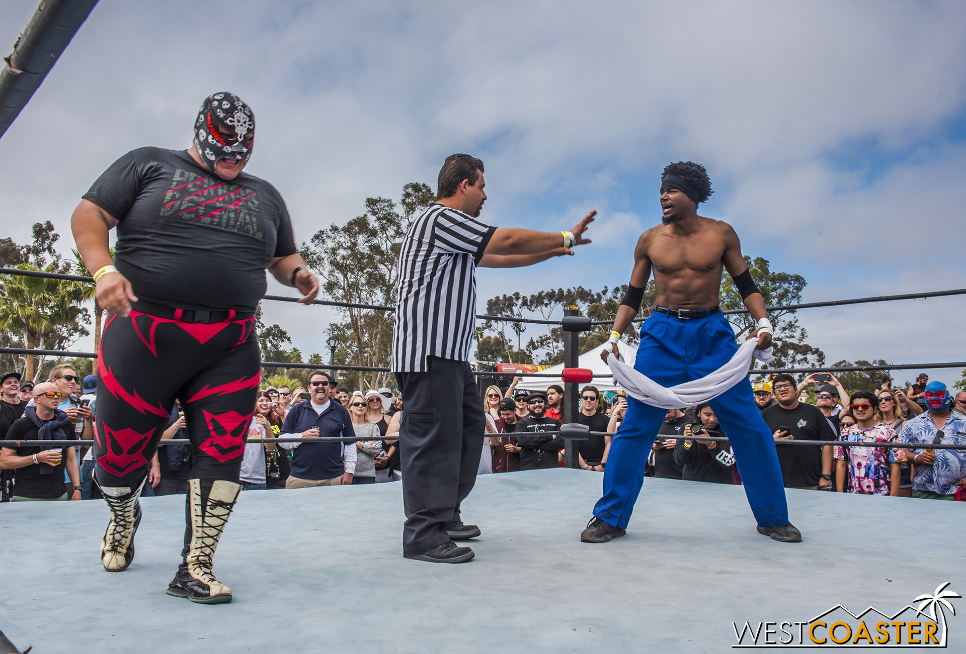 The festival showcased lucha libre wrestling once again this year.