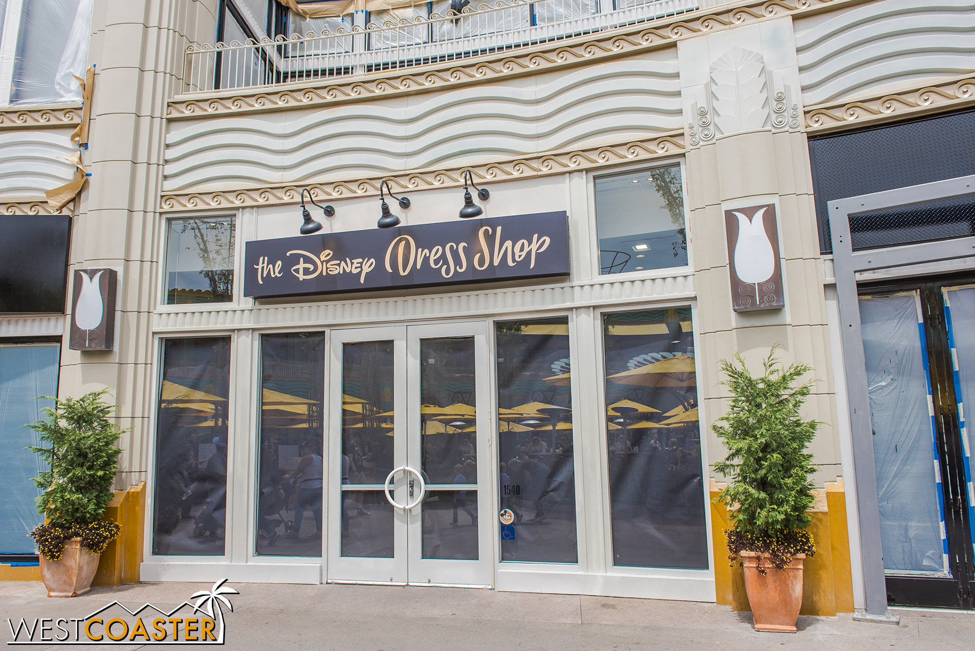 On Friday, the Disney Dress Store was open. By Sunday, it was closed.
