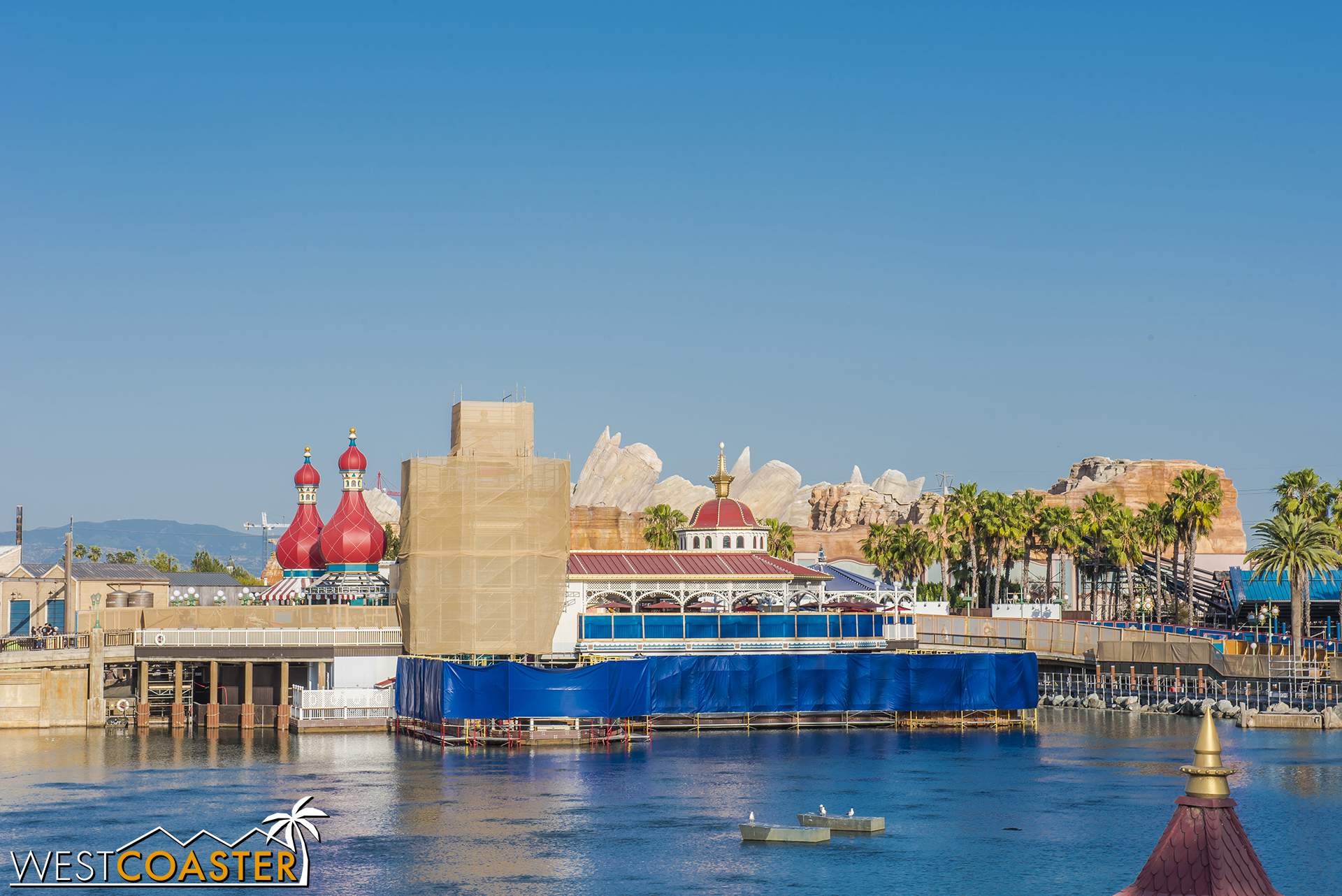 I keep on telling myself I'll take less pictures of Pixar Pier, especially if there's little noticeable progress, but I keep finding new angles and vantage points for photos!