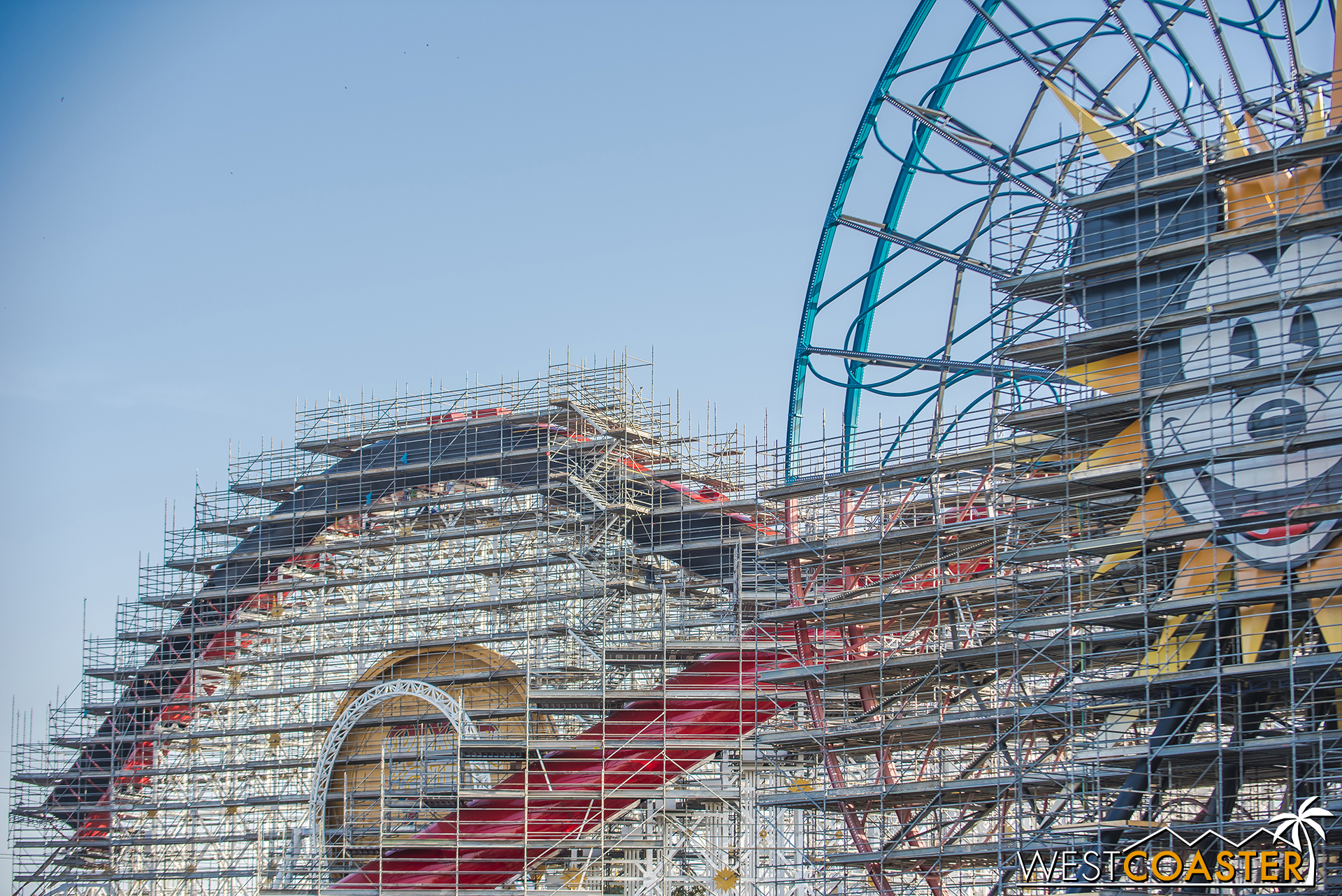 They've rotated the Fun Wheel 180° so they can repaint the other half.