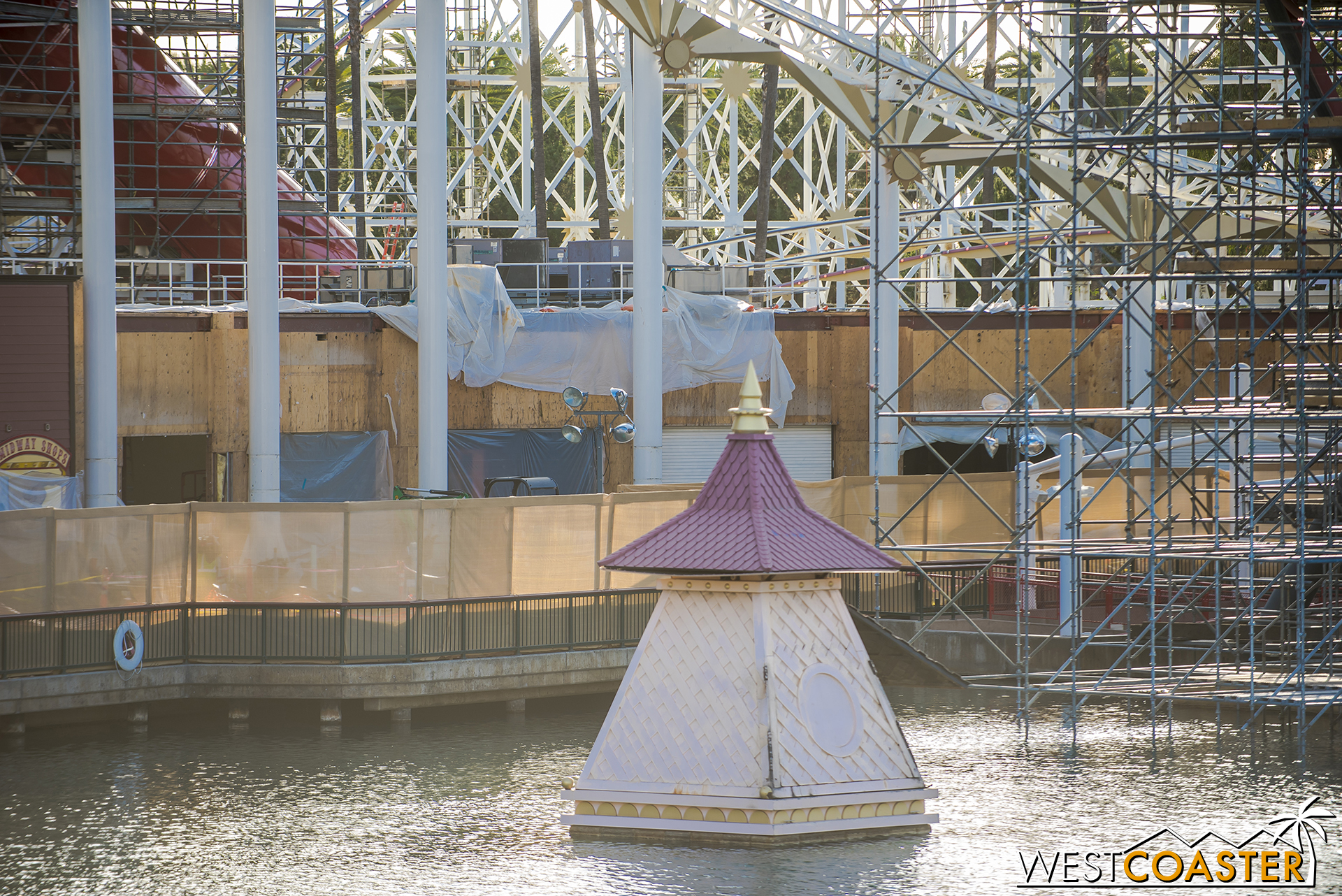 But the facades that had retained the carnival seaside park aesthetic have been removed and will be replaced by something that will better fit with the unchanged facades.