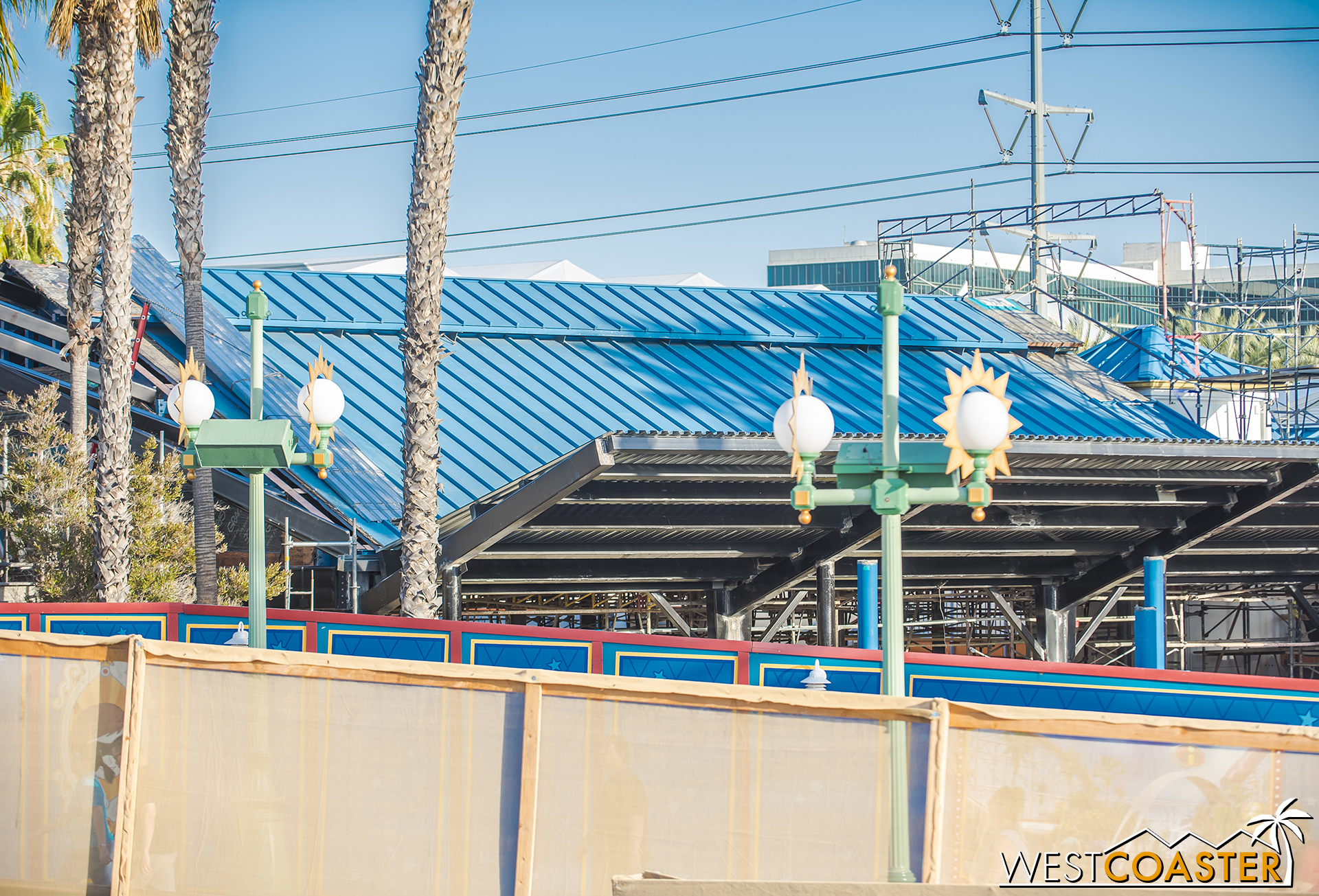 They've added decking to the chevron roof extension too.