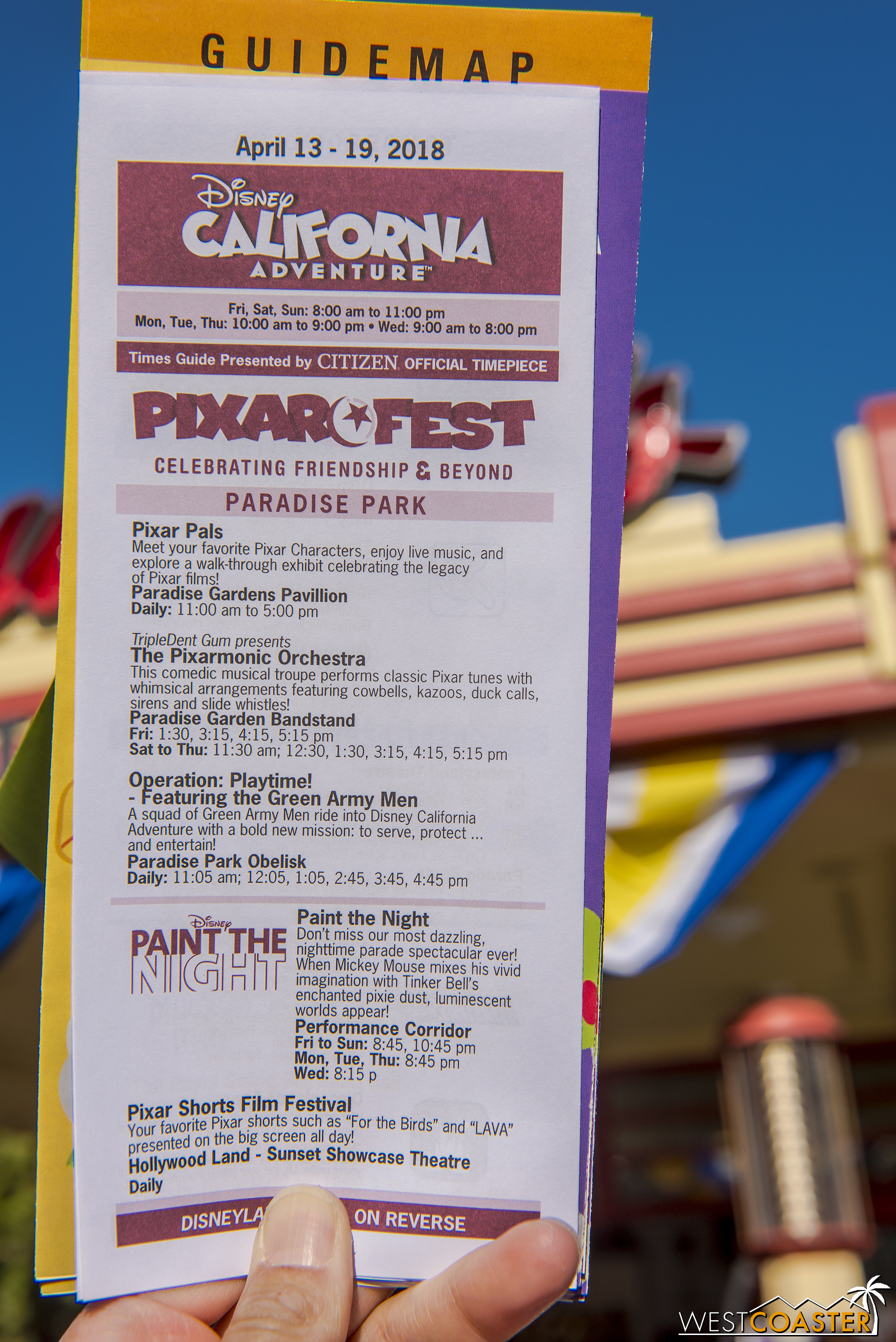 Entertainment schedule over at DCA.