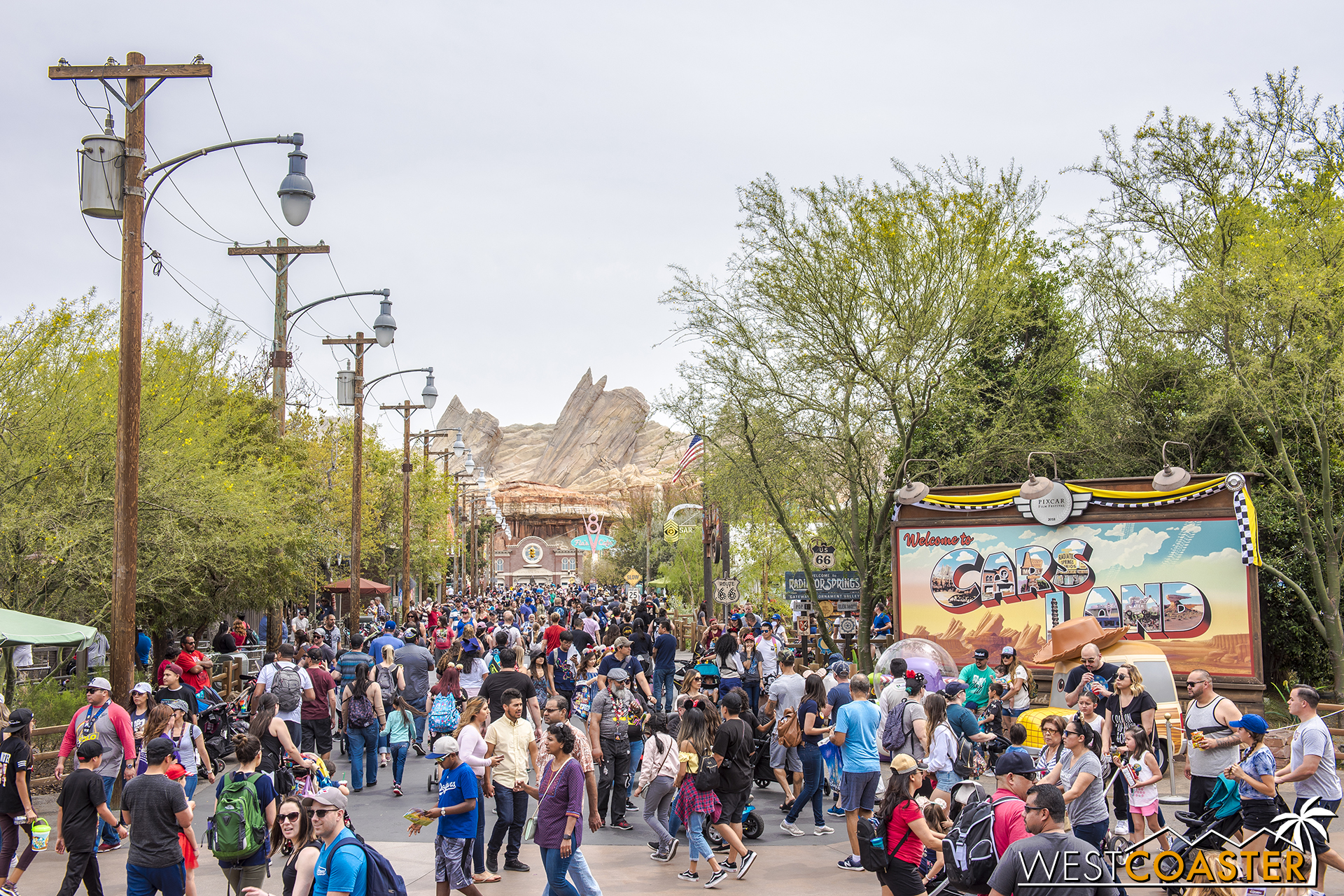 Lets move over to Cars Land.